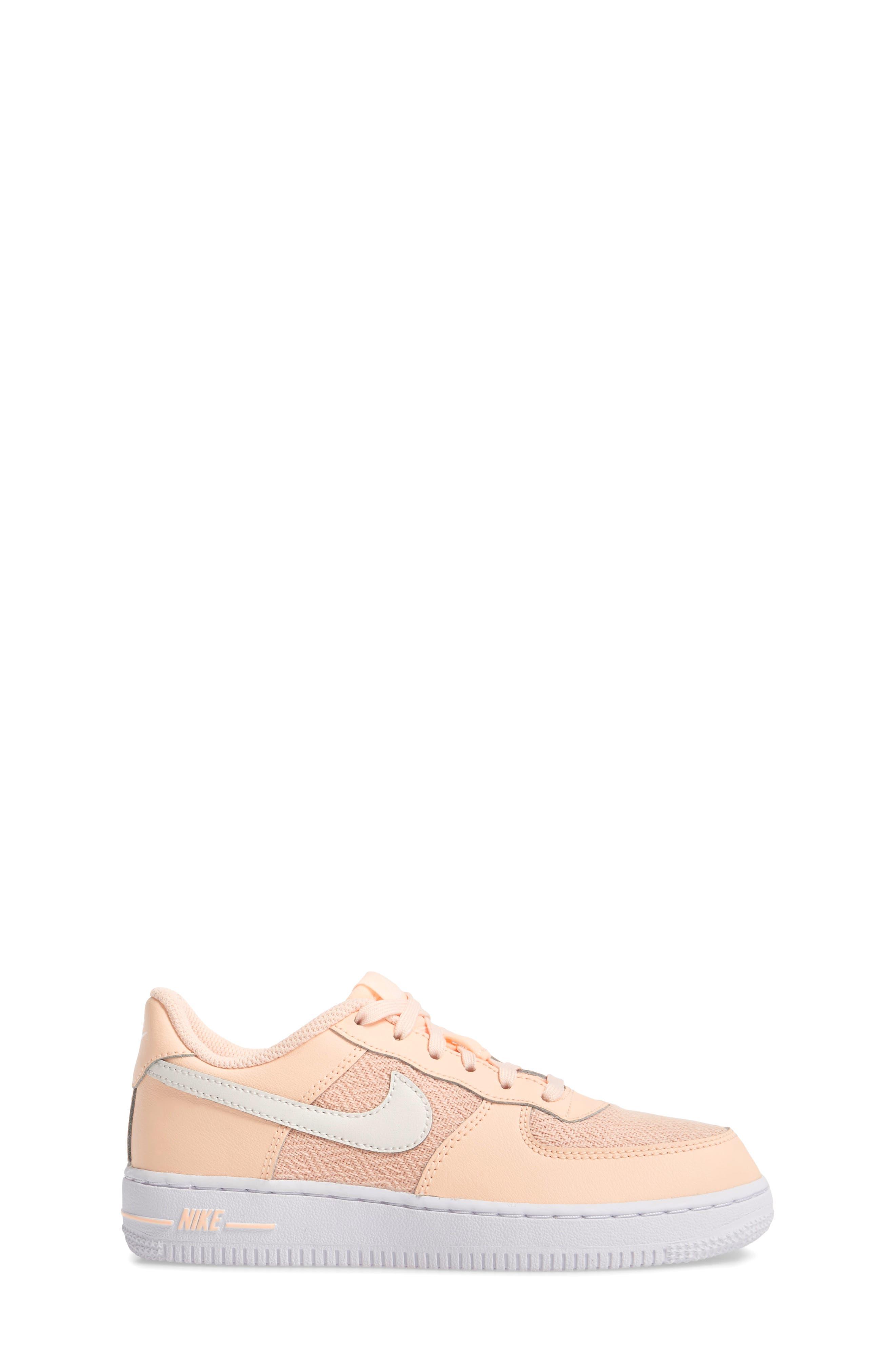 Air Force 1 LV8 Sneaker,                             Alternate thumbnail 3, color,                             Crimson Tint/ Sail/ White