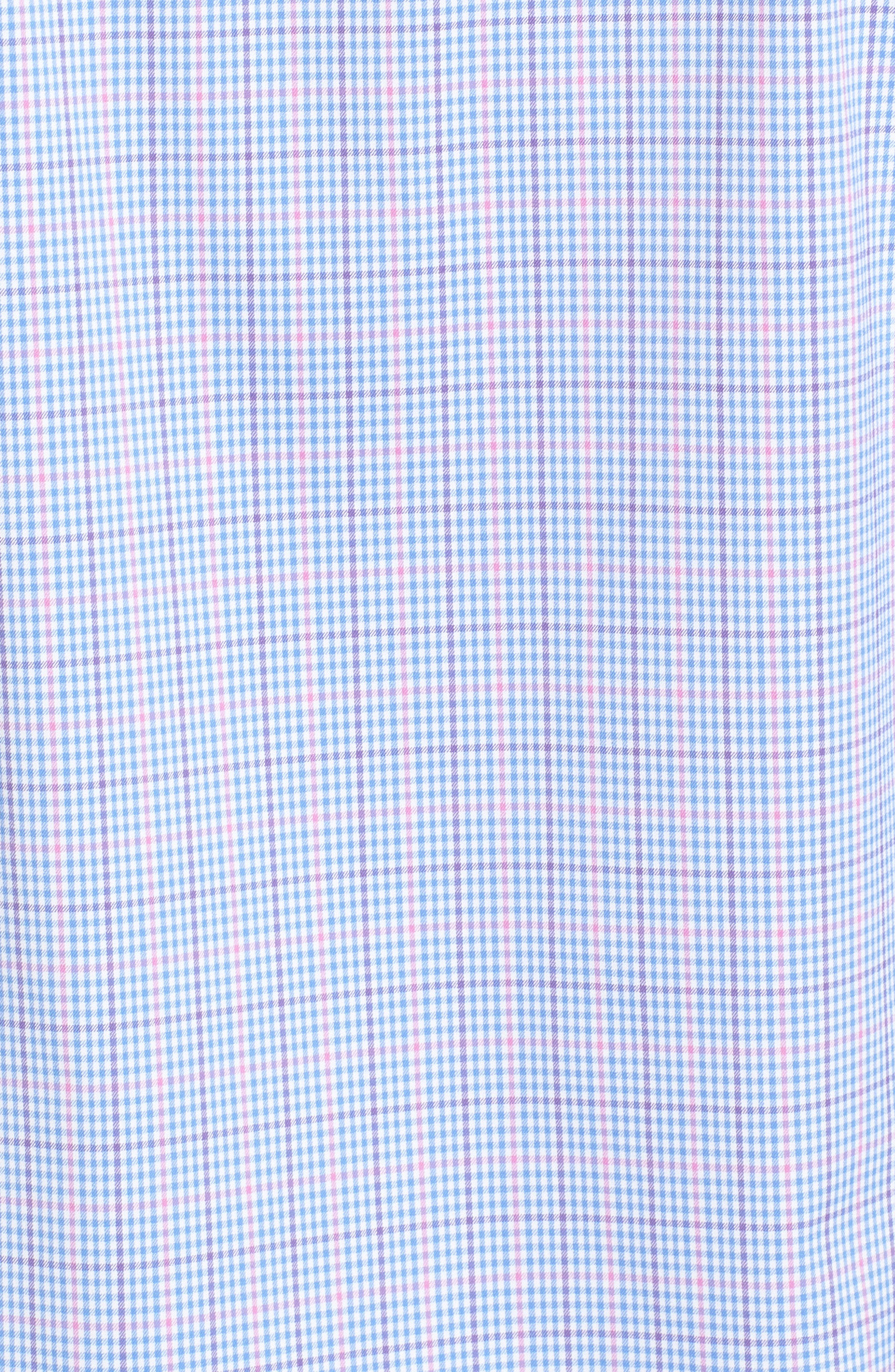 Classic Fit Pin Check Performance Sport Shirt,                             Alternate thumbnail 4, color,                             Pink