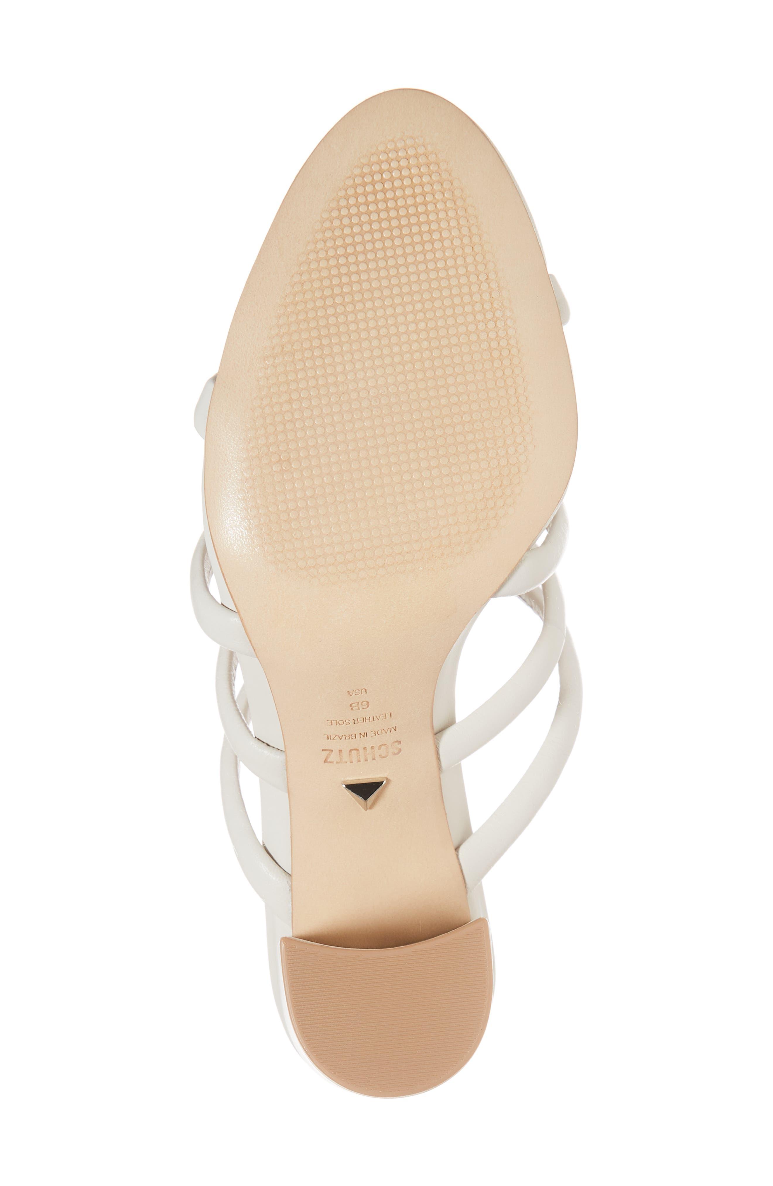 Felisa Block Heel Sandal,                             Alternate thumbnail 6, color,                             Pearl Leather