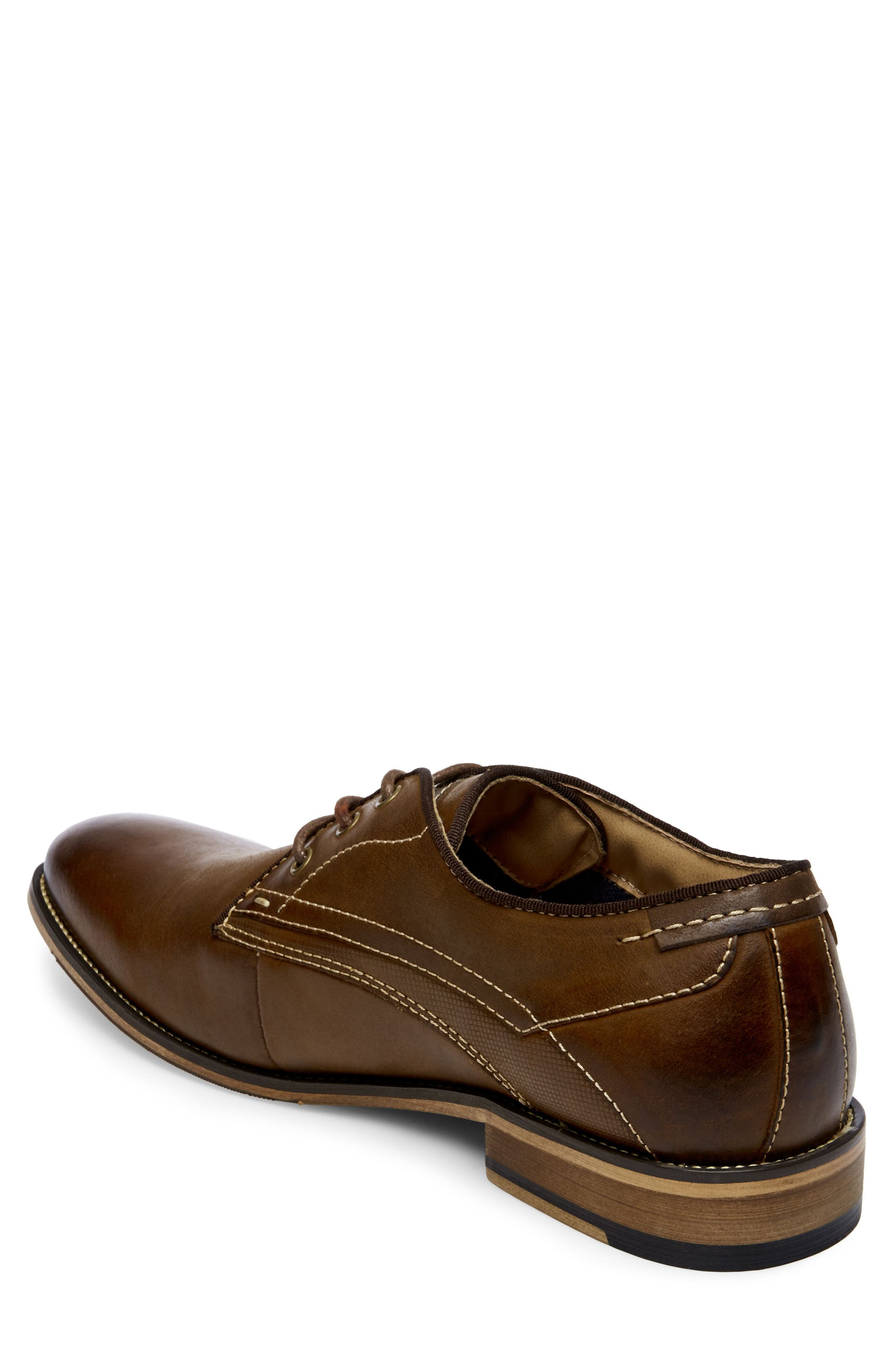 Jetset Plain Toe Derby,                             Alternate thumbnail 2, color,                             Dark Tan Leather