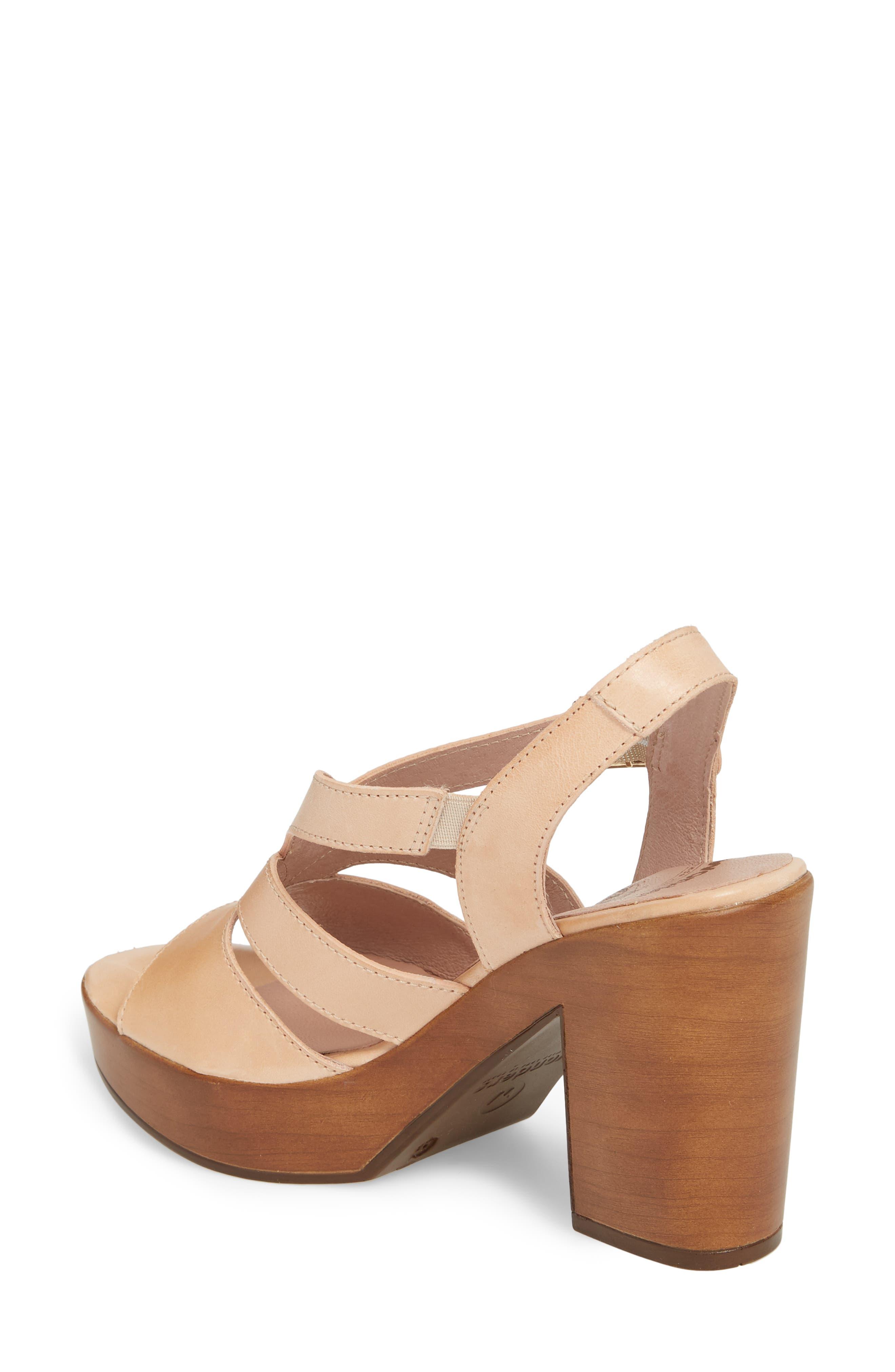 V-Strap Platform Sandal,                             Alternate thumbnail 2, color,                             Palo Leather
