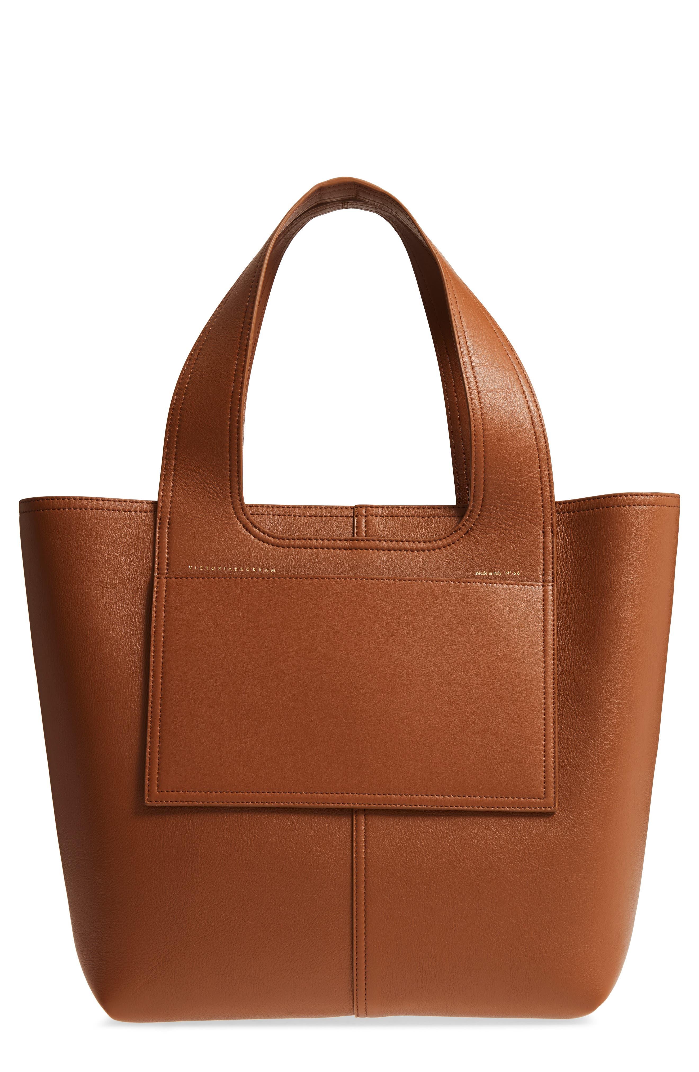Apron Leather Tote,                         Main,                         color, Cuoio