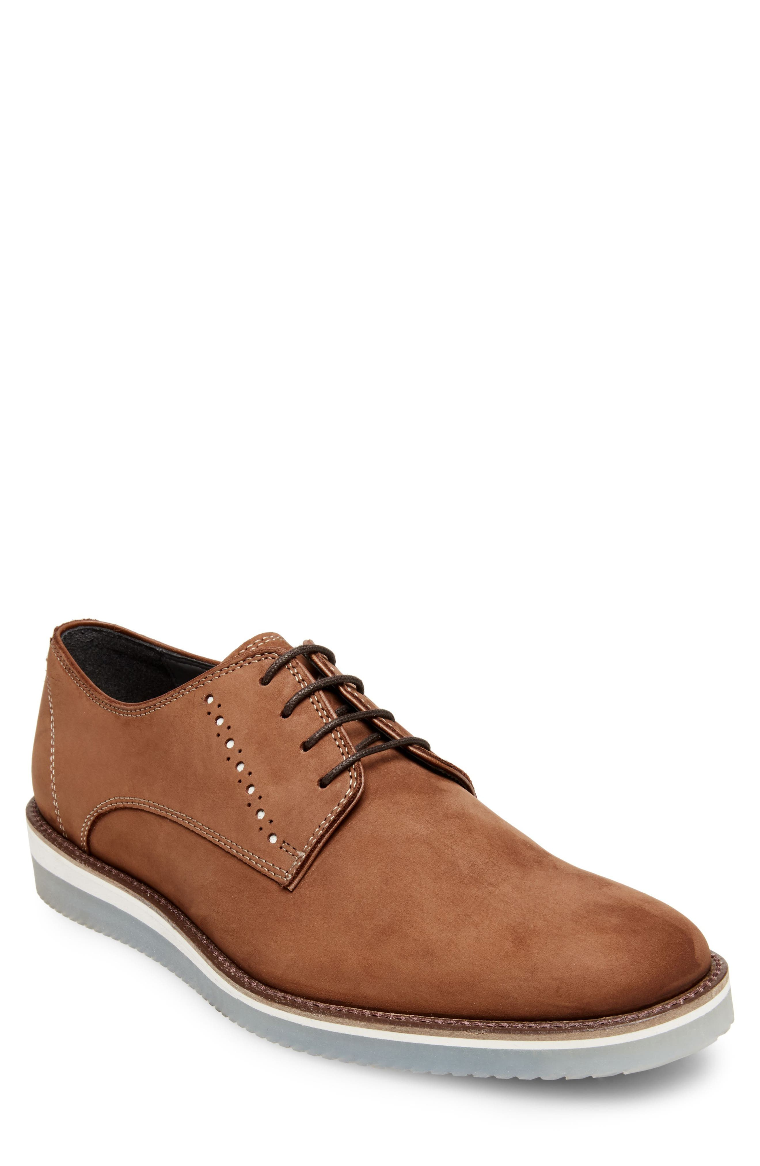 Inquest Plain Toe Derby,                         Main,                         color, Cognac Nubuck