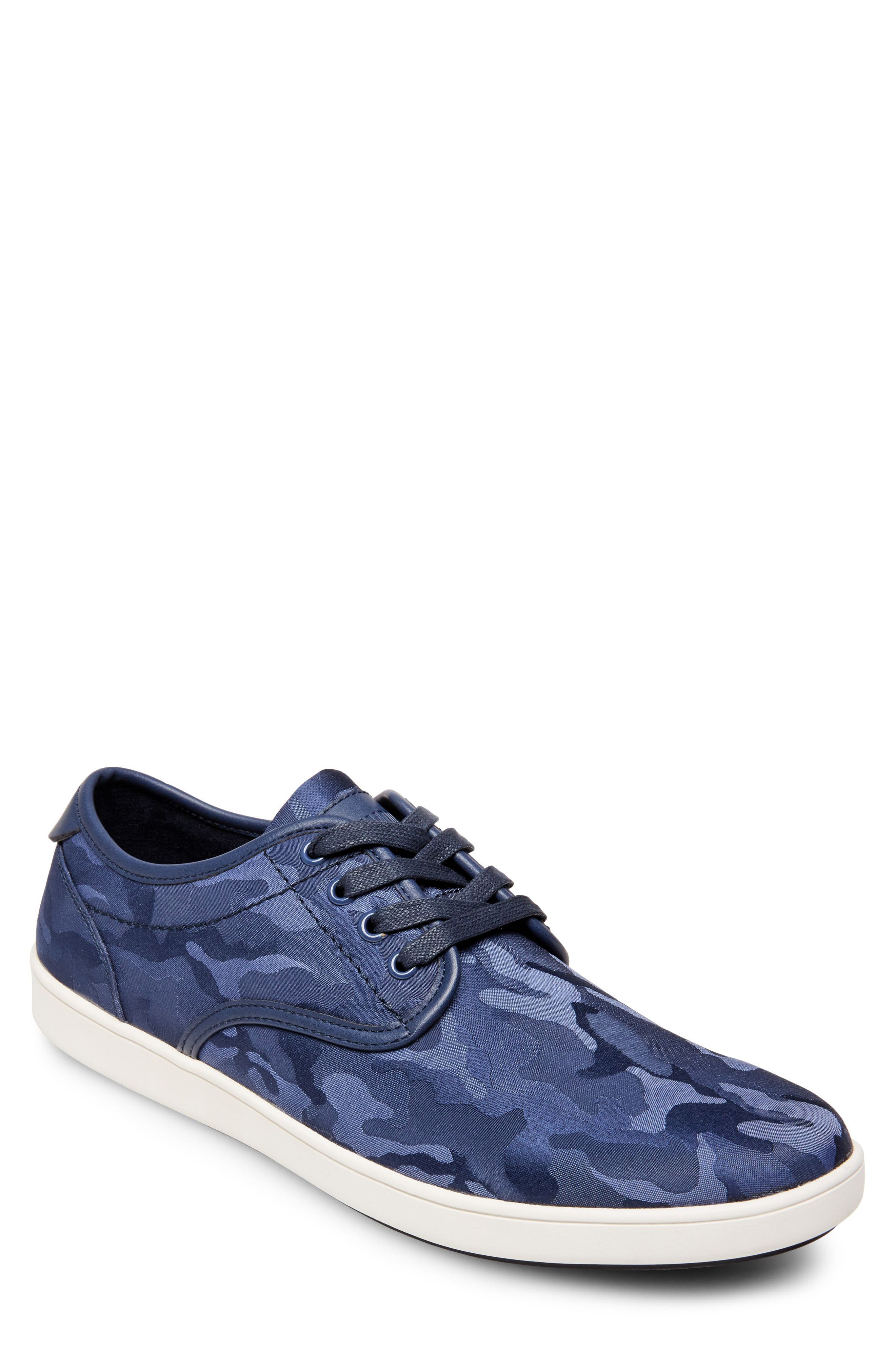 Frenzo Camo Sneaker,                         Main,                         color, Blue Camo Fabric