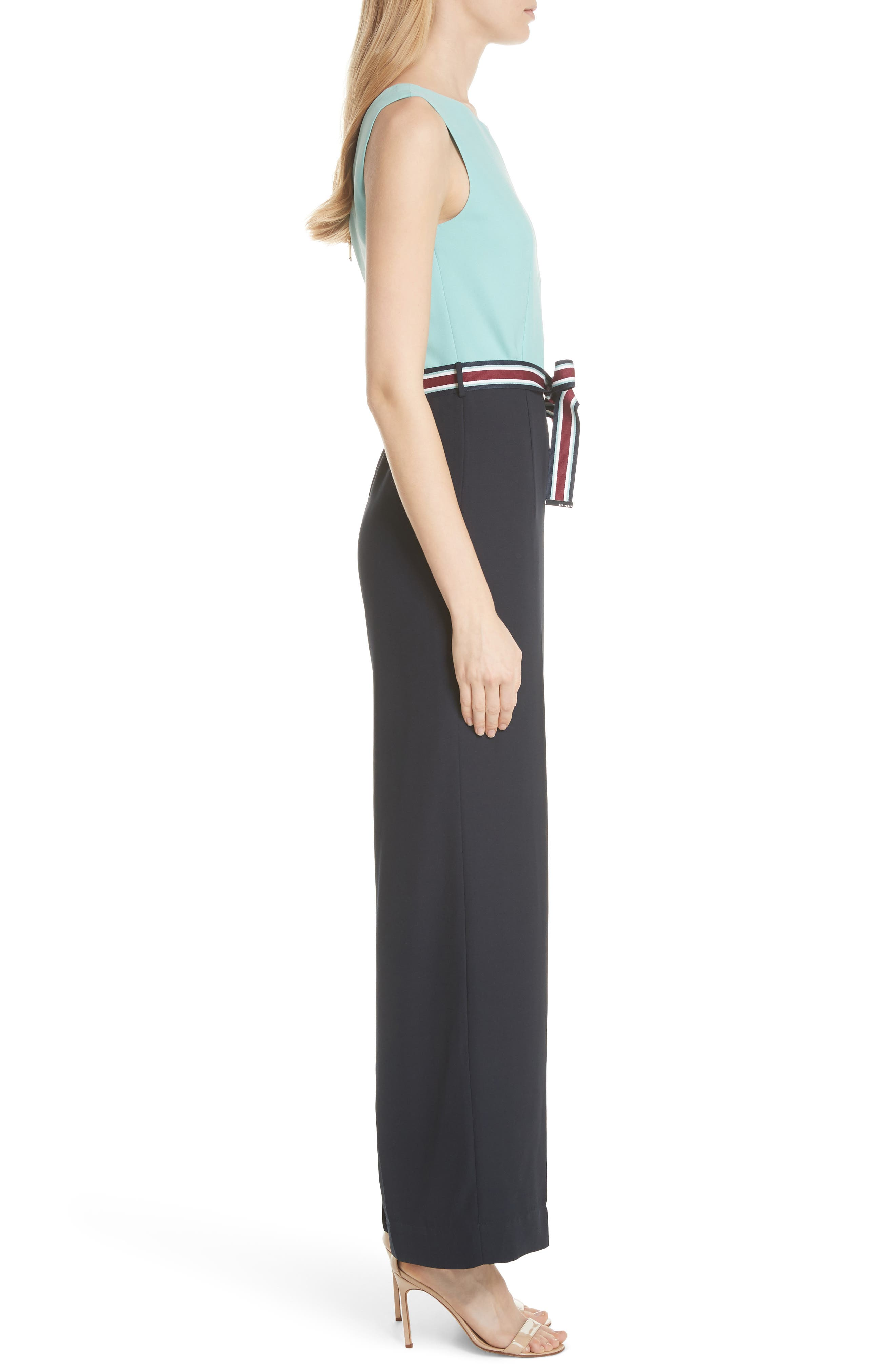 Alternate Image 3  - Ted Baker London Colour by Numbers Colorblock Jumpsuit