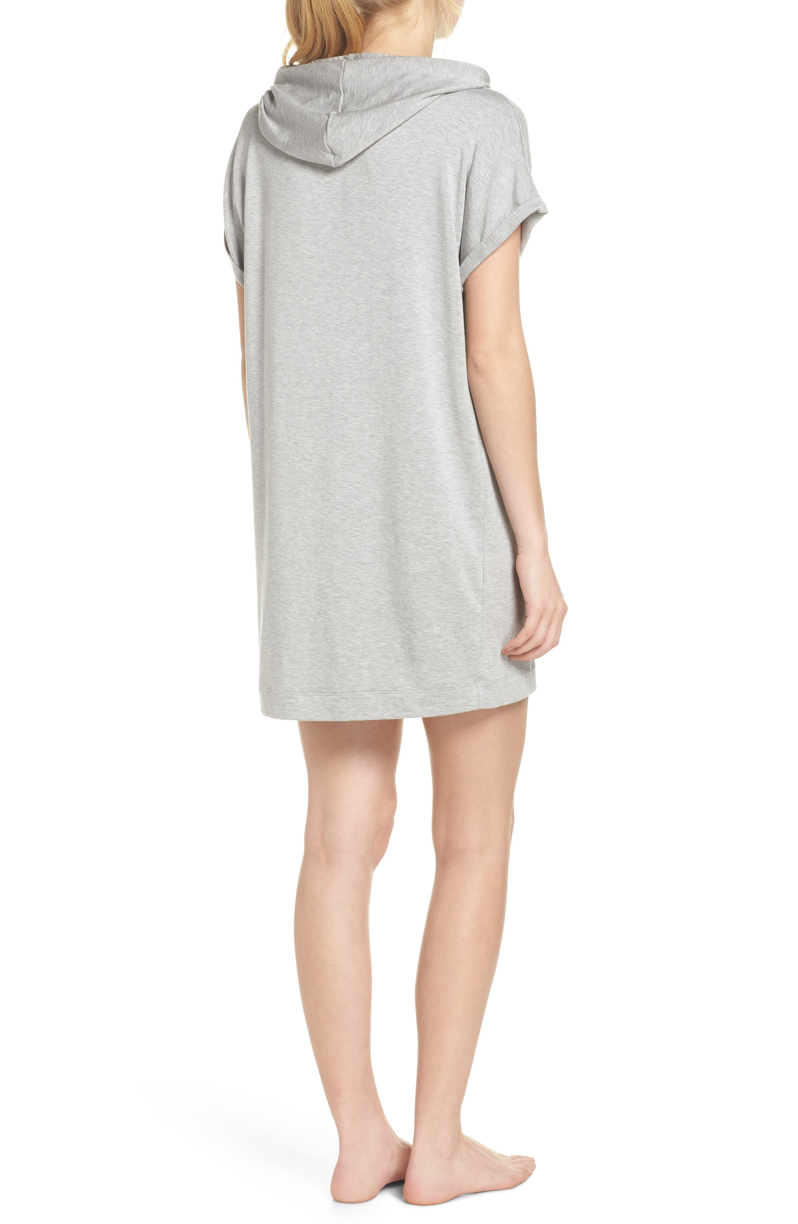 It's All Hoodie Hooded Sweatshirt Dress,                             Alternate thumbnail 2, color,                             Light Heather Gray