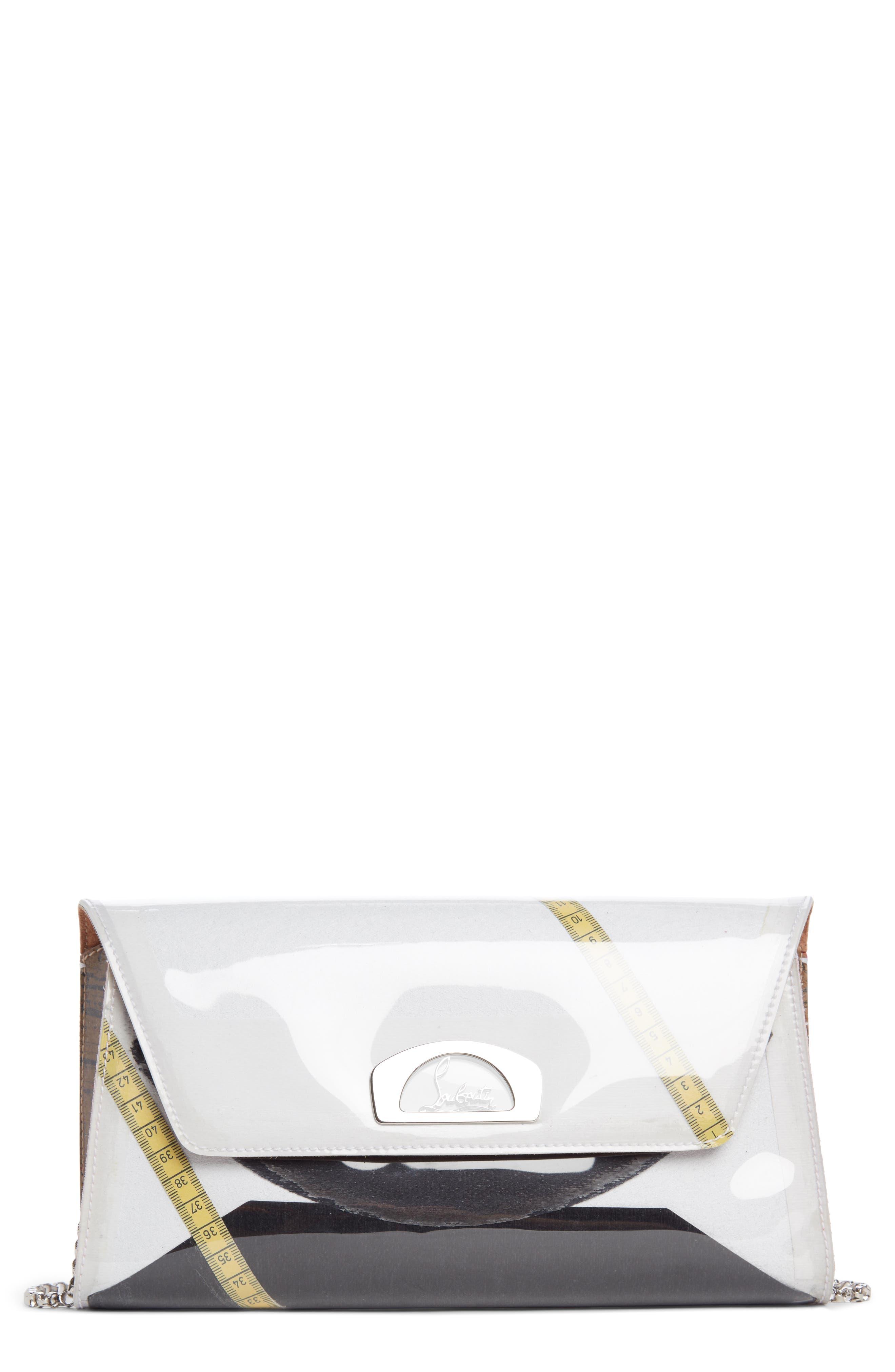Vero Dodat Loubicouture Clutch,                         Main,                         color, White Multi