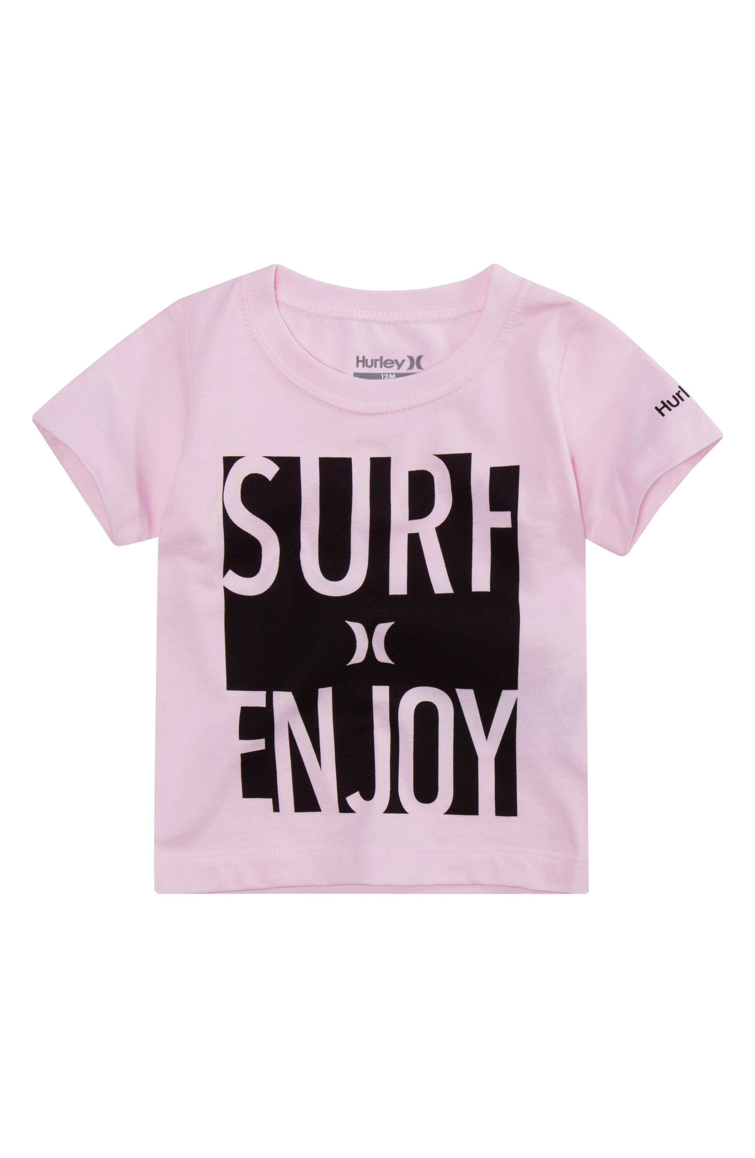 Surf & Enjoy Graphic T-Shirt,                             Main thumbnail 1, color,                             Artic Pink