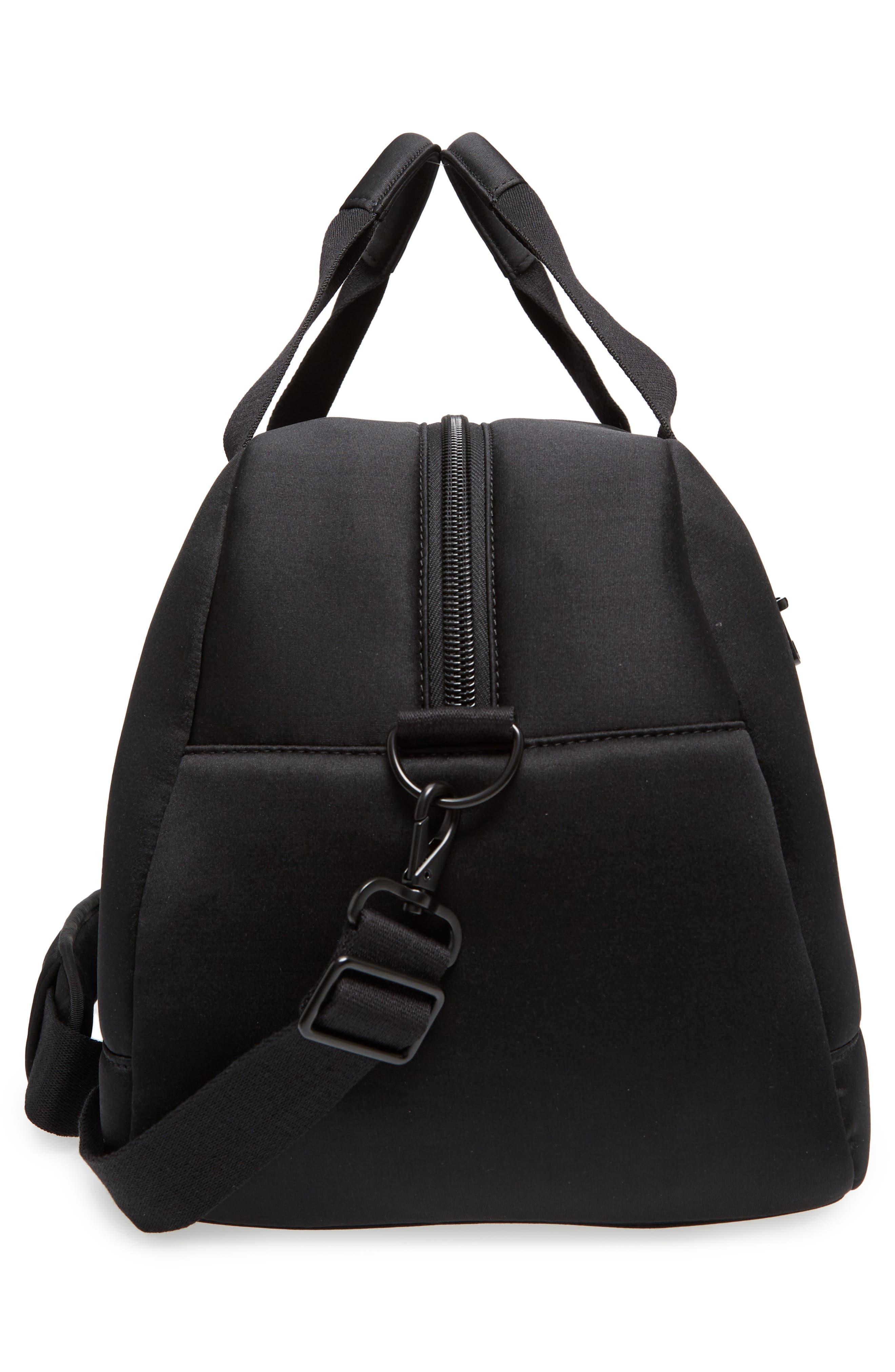 Franklin Neoprene Duffel Bag,                             Alternate thumbnail 5, color,                             Black
