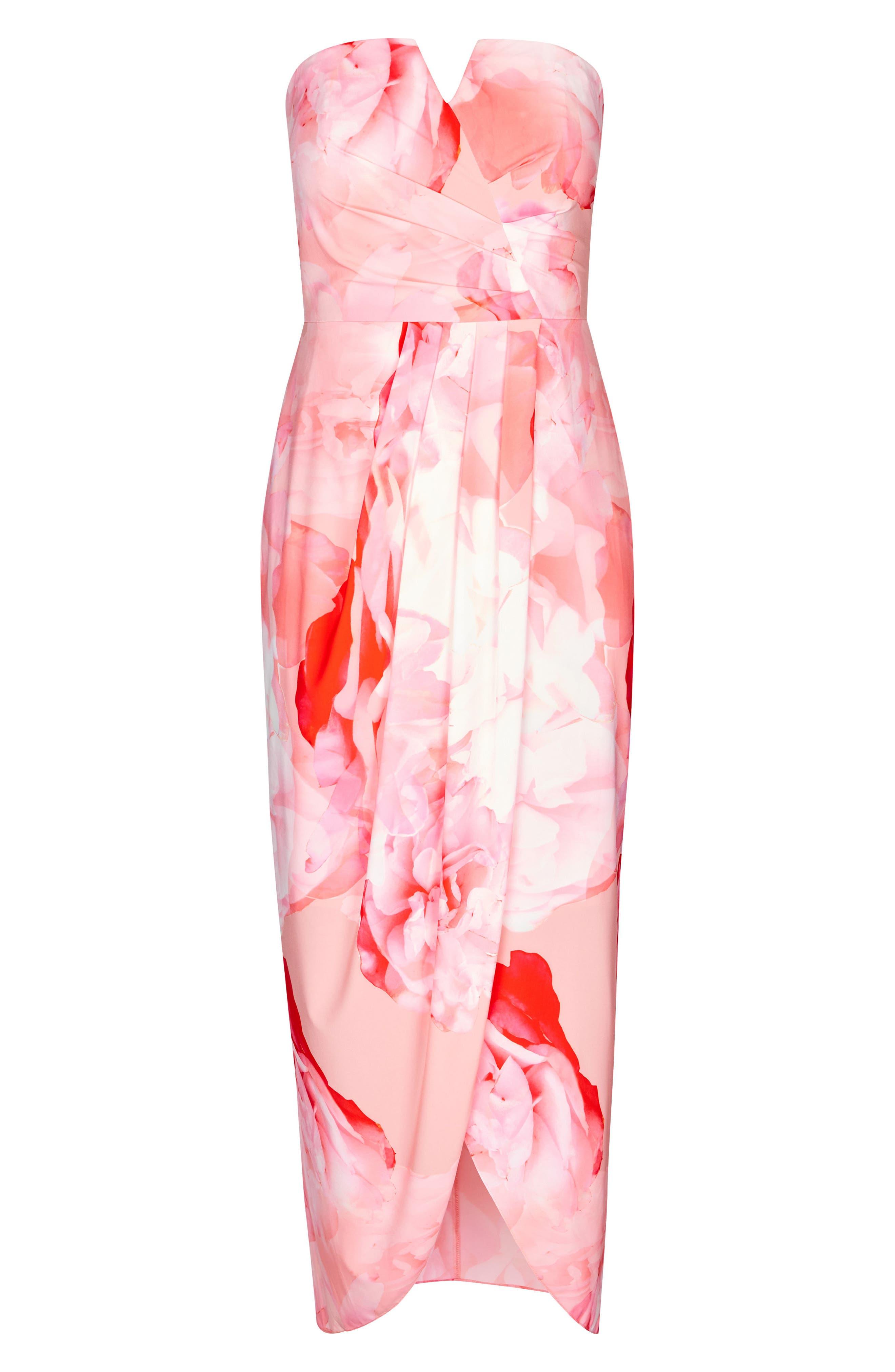 Girly Rose Strapless Maxi Dress,                             Alternate thumbnail 3, color,                             Girly Rose