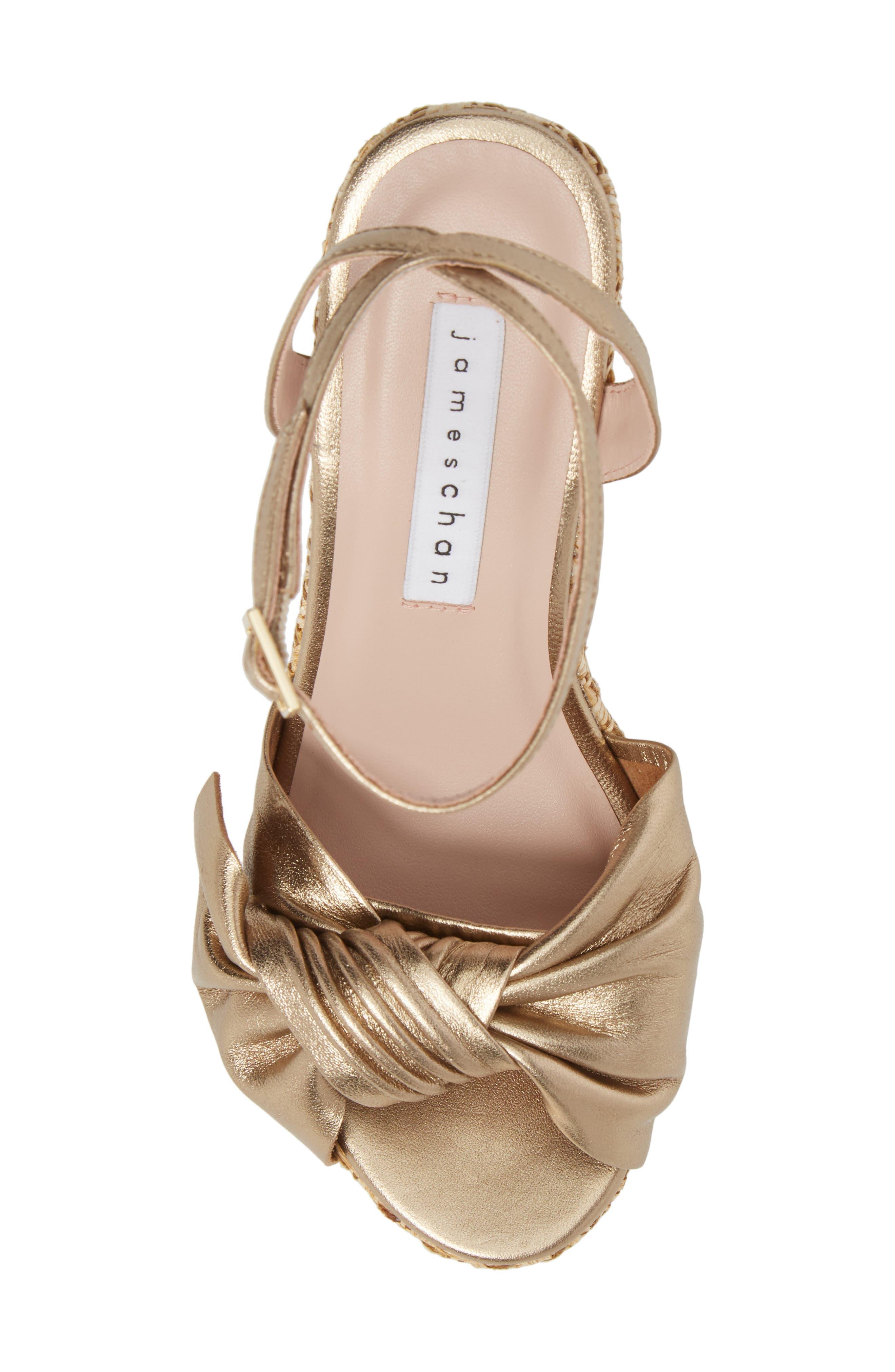 Pinky Platform Sandal,                             Alternate thumbnail 5, color,                             Dark Gold Suede