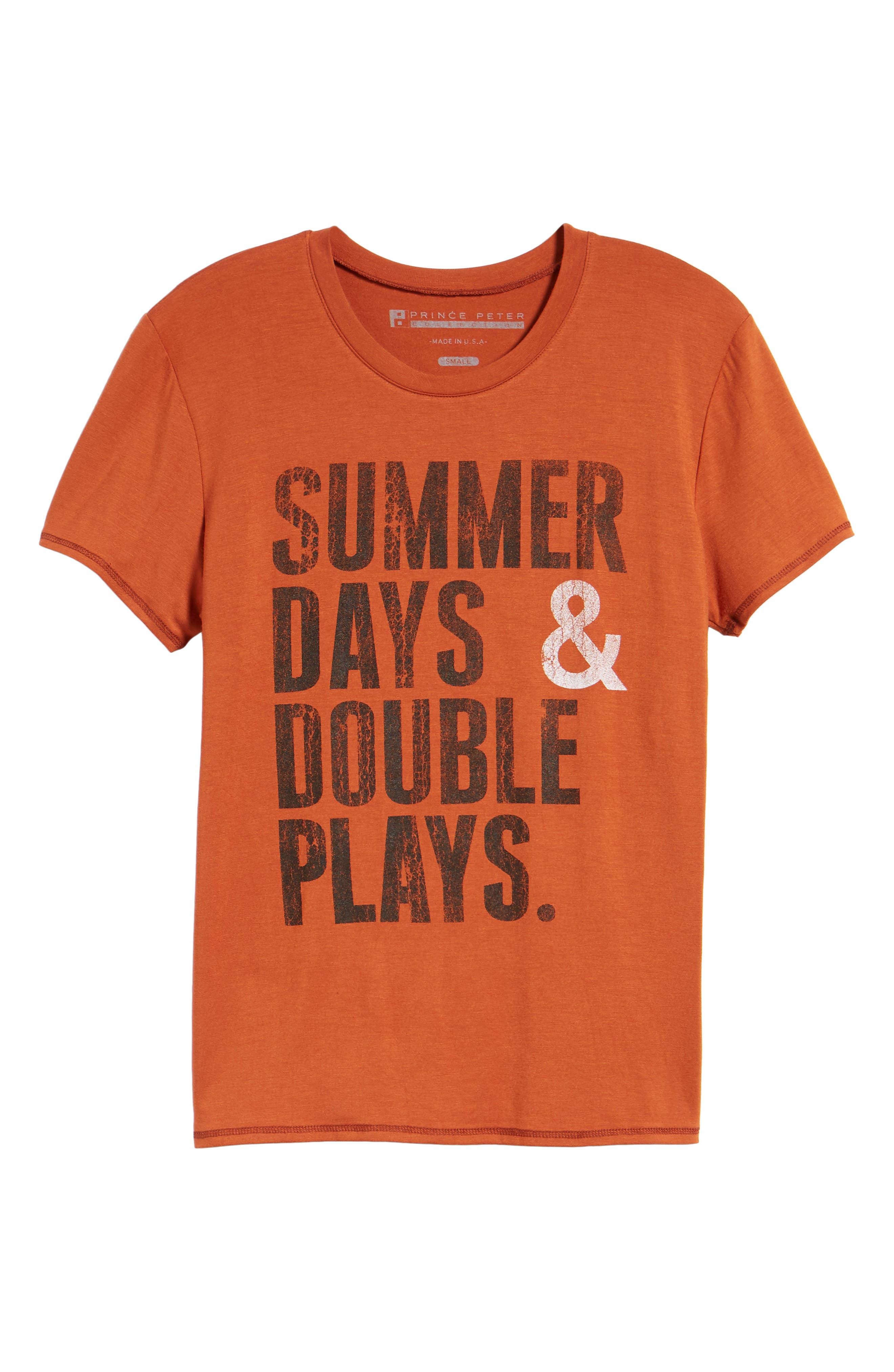 Summer Days & Double Plays Tee,                             Alternate thumbnail 7, color,                             Orange