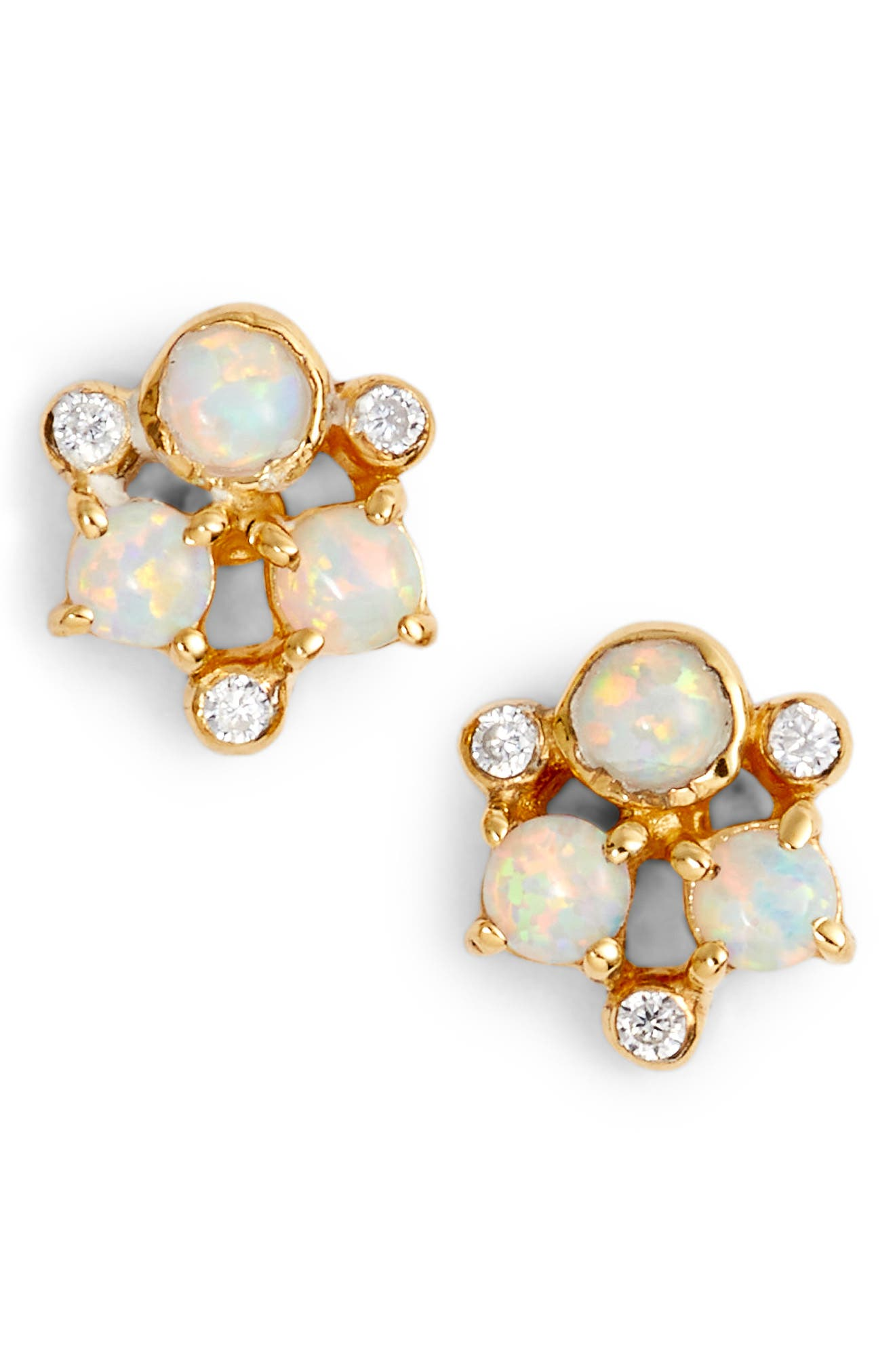 Sydney Cluster Stud Earrings,                         Main,                         color, Gold