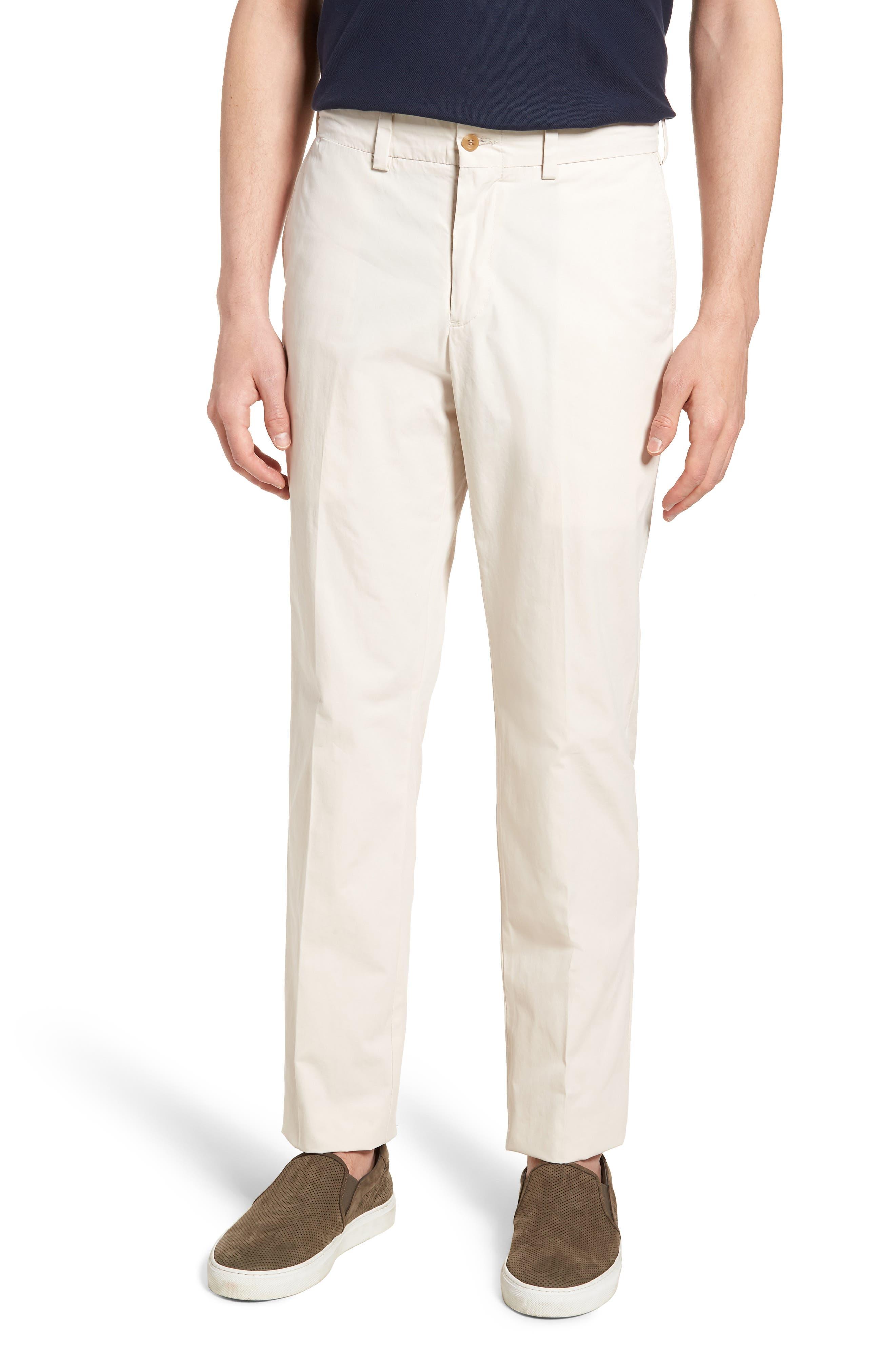 M3 Straight Fit Flat Front Tropical Poplin Pants,                             Main thumbnail 1, color,                             Sand