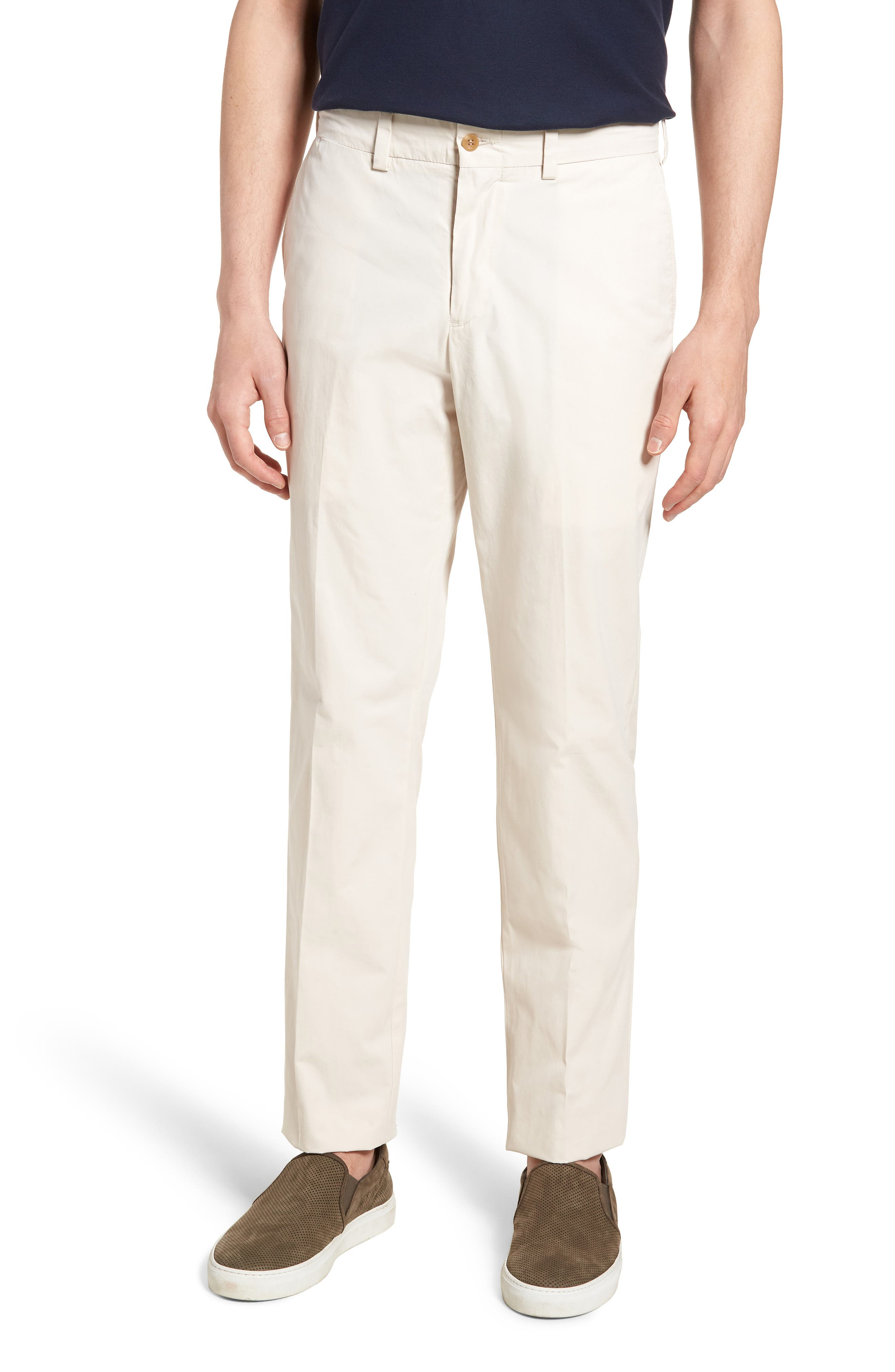 Bills Khakis M3 Straight Fit Flat Front Tropical Poplin Pants