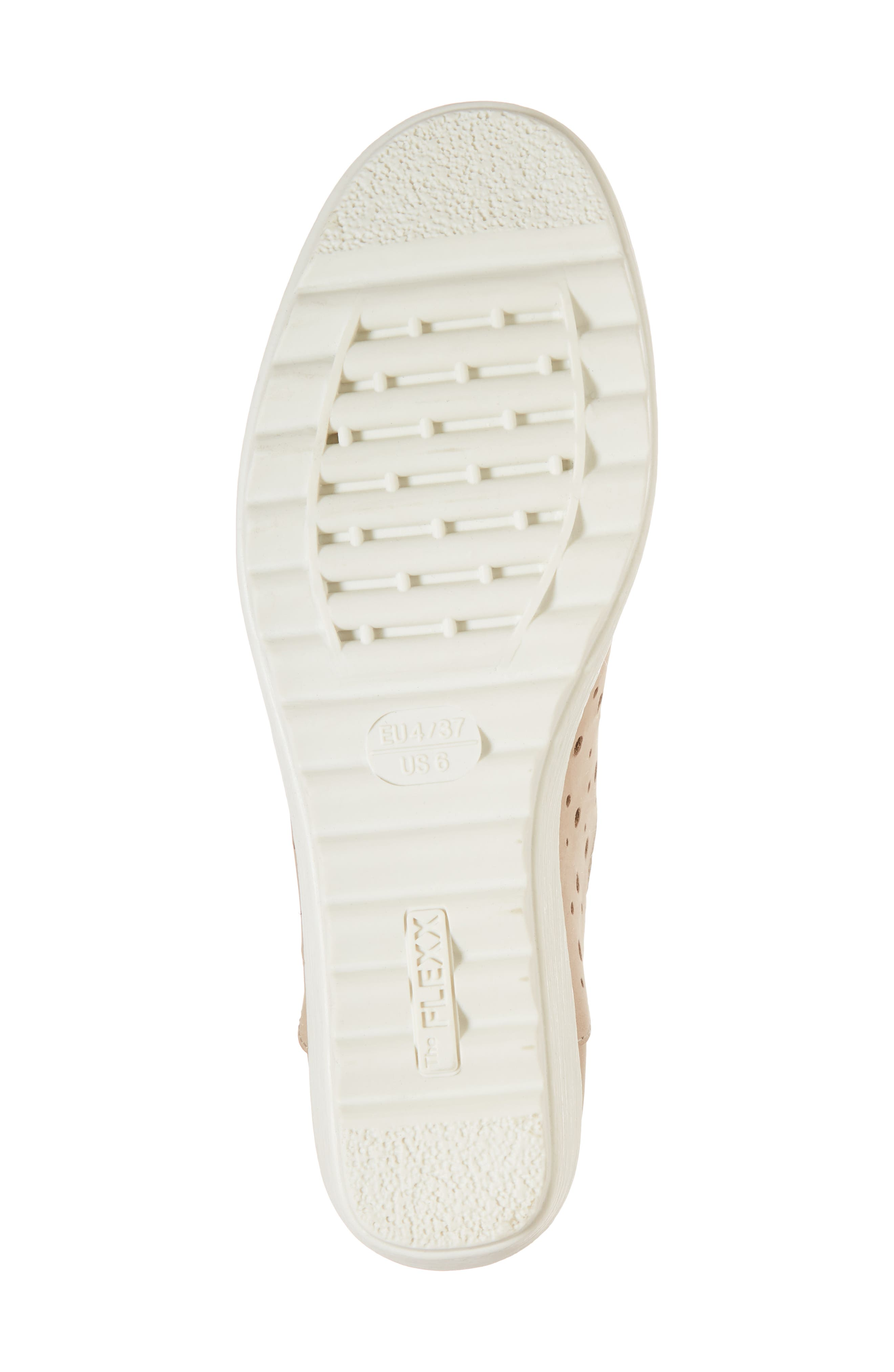 Run Crazy Too Perforated Wedge Sneaker,                             Alternate thumbnail 6, color,                             Dune Nubuck