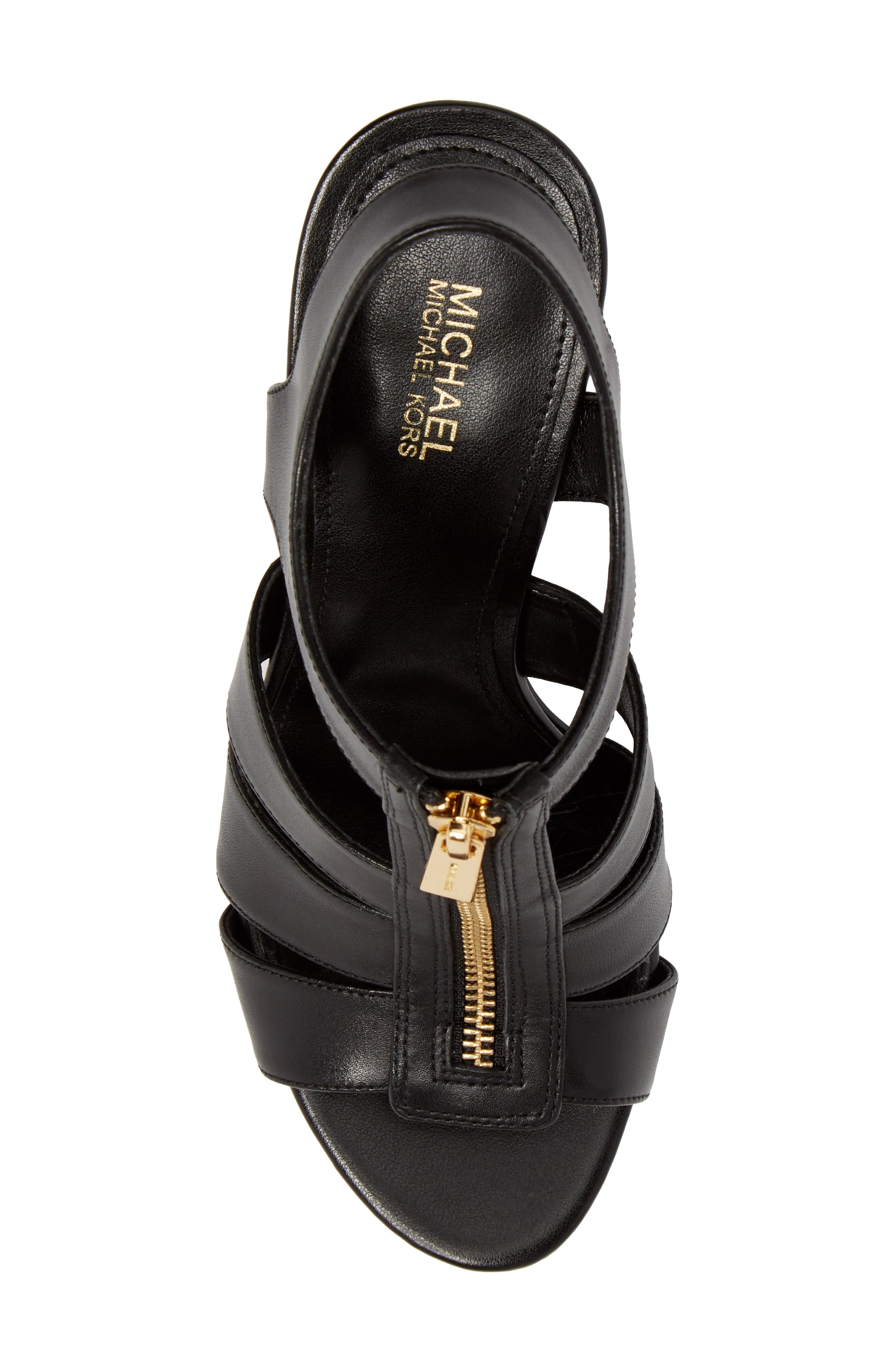 Damita Sandal,                             Alternate thumbnail 5, color,                             Black