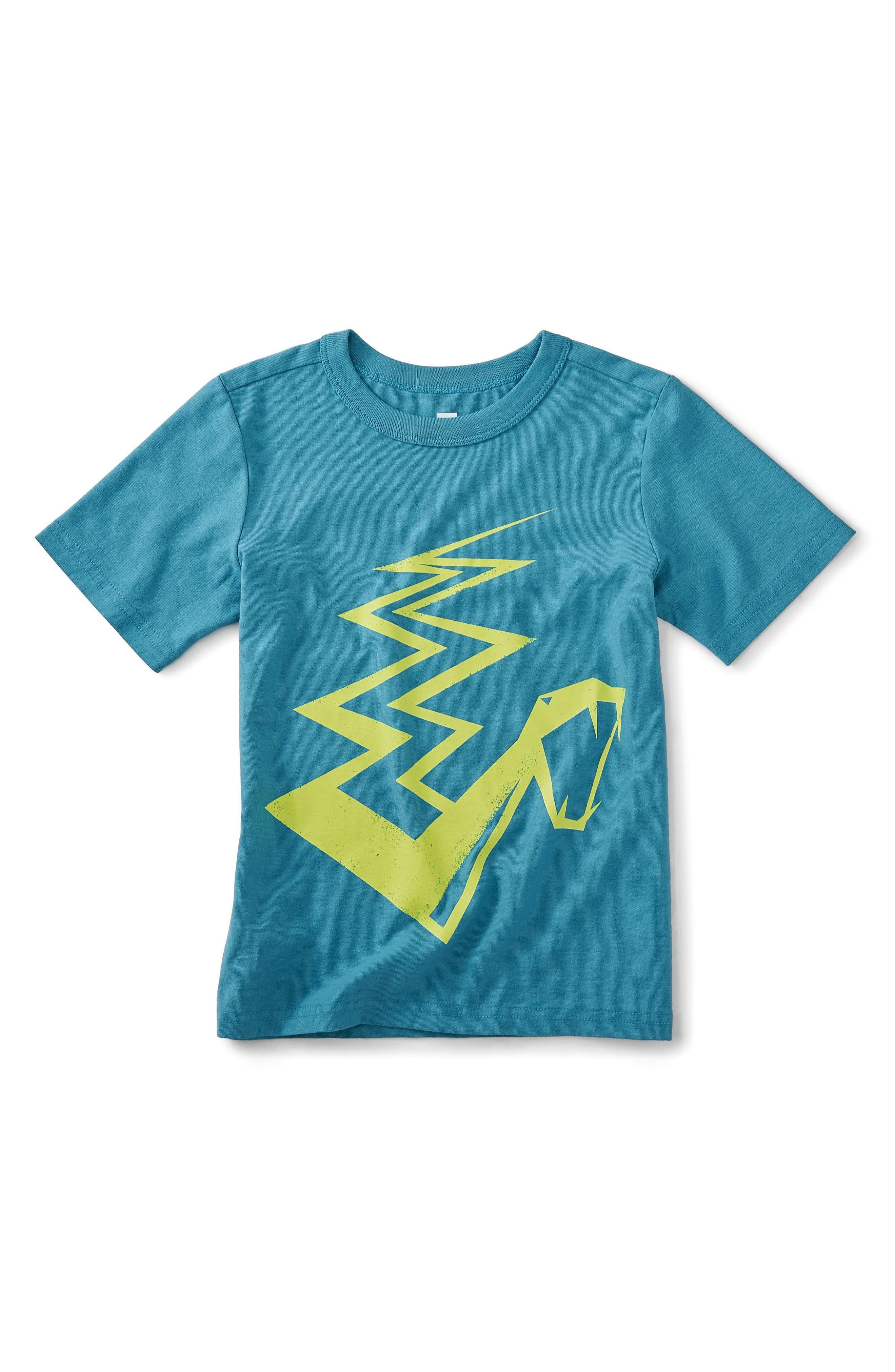 Snake Graphic T-Shirt,                             Main thumbnail 1, color,                             Pagoda Blue
