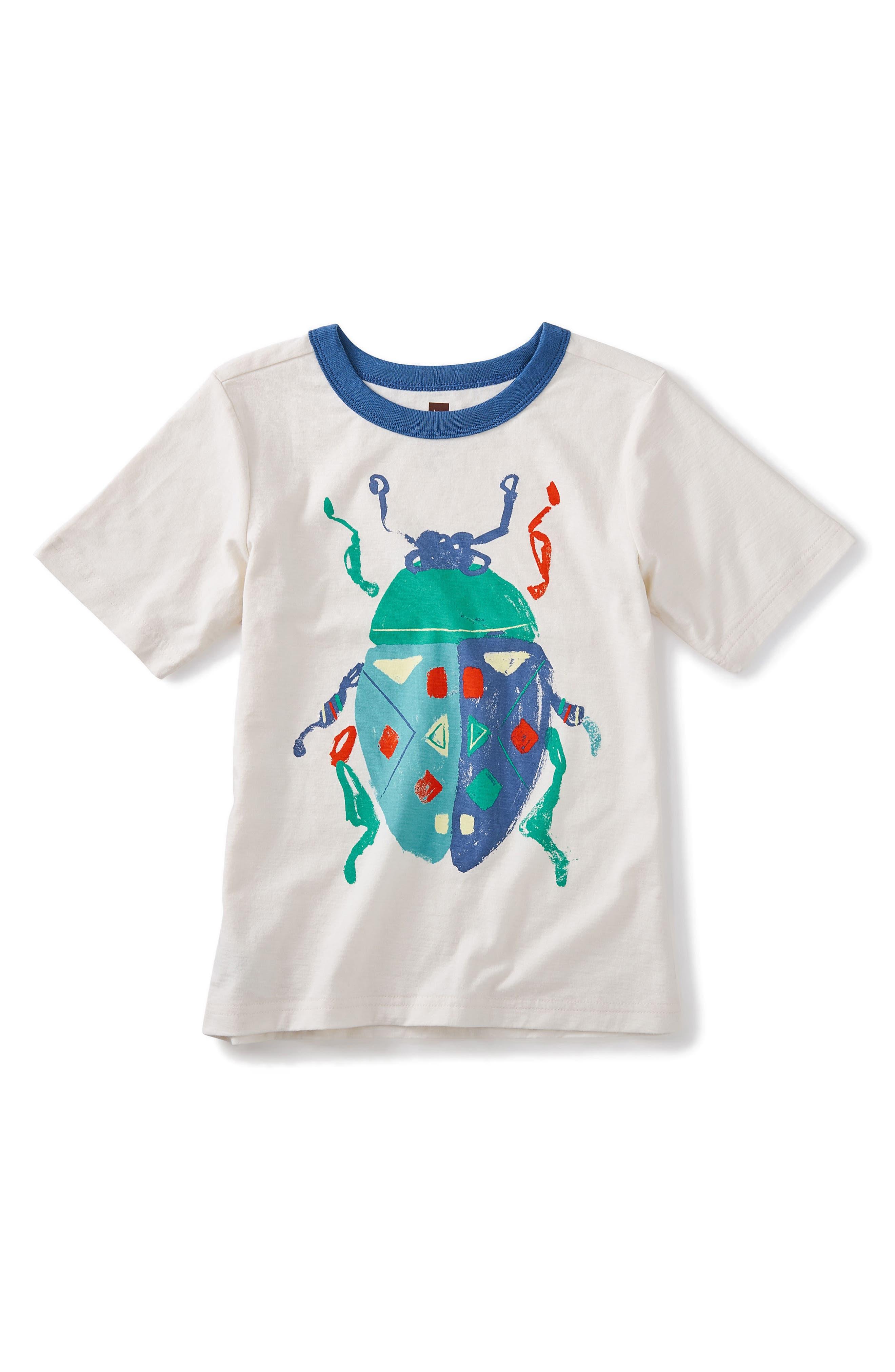 Beetle Graphic T-Shirt,                             Main thumbnail 1, color,                             Chalk