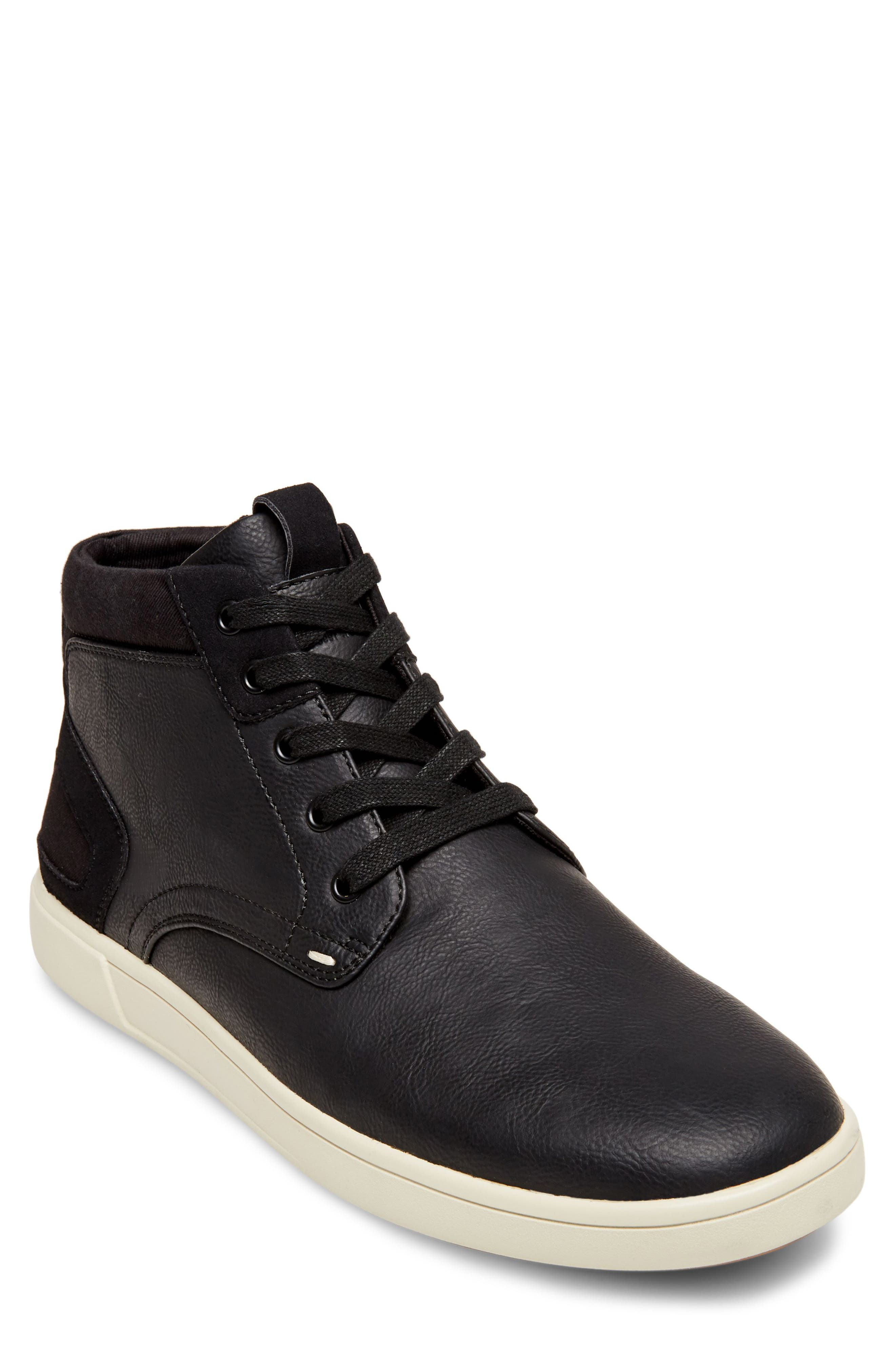 Forsyth High Top Sneaker,                         Main,                         color, Black Leather