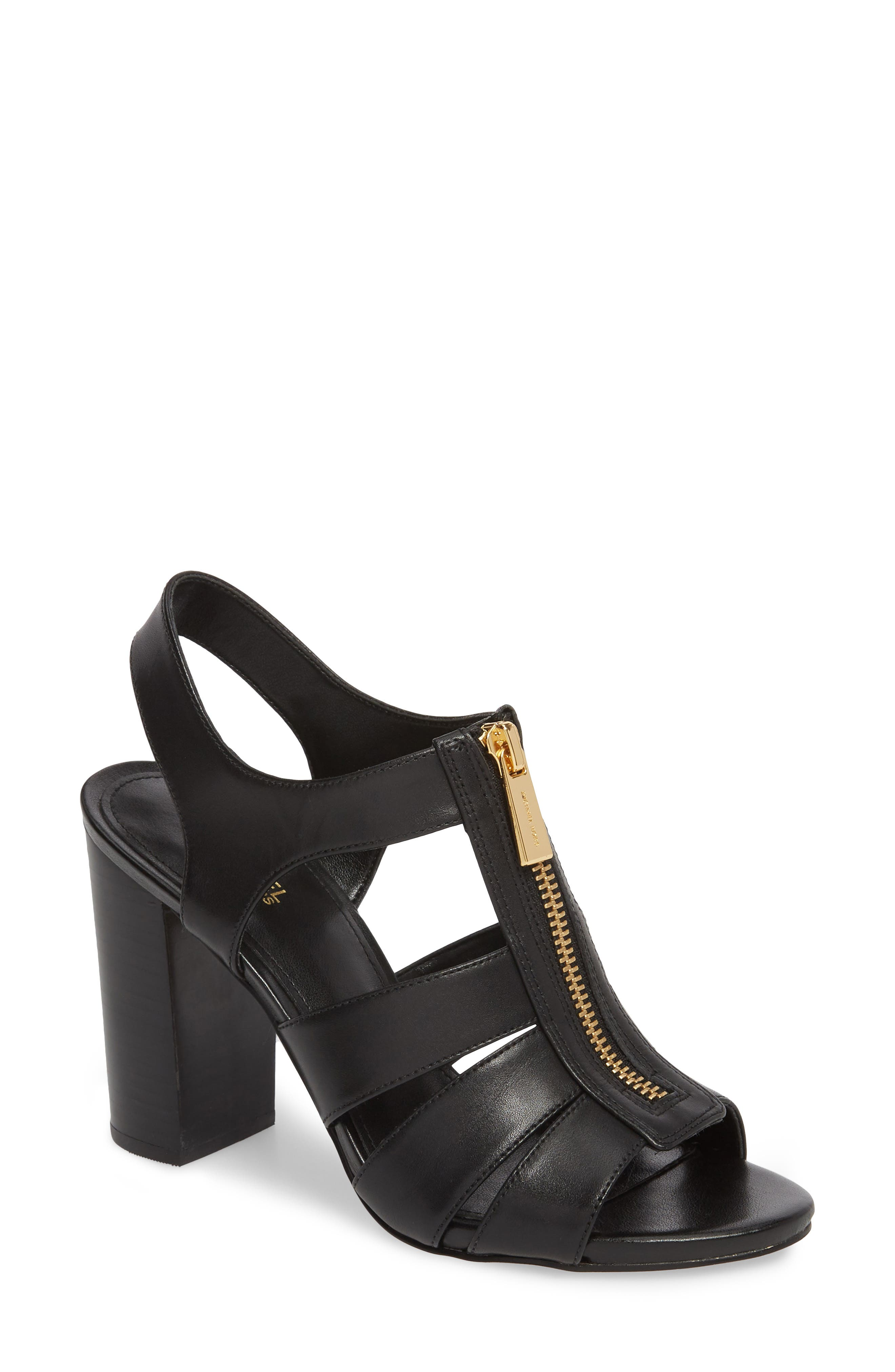 Damita Sandal,                             Main thumbnail 1, color,                             Black