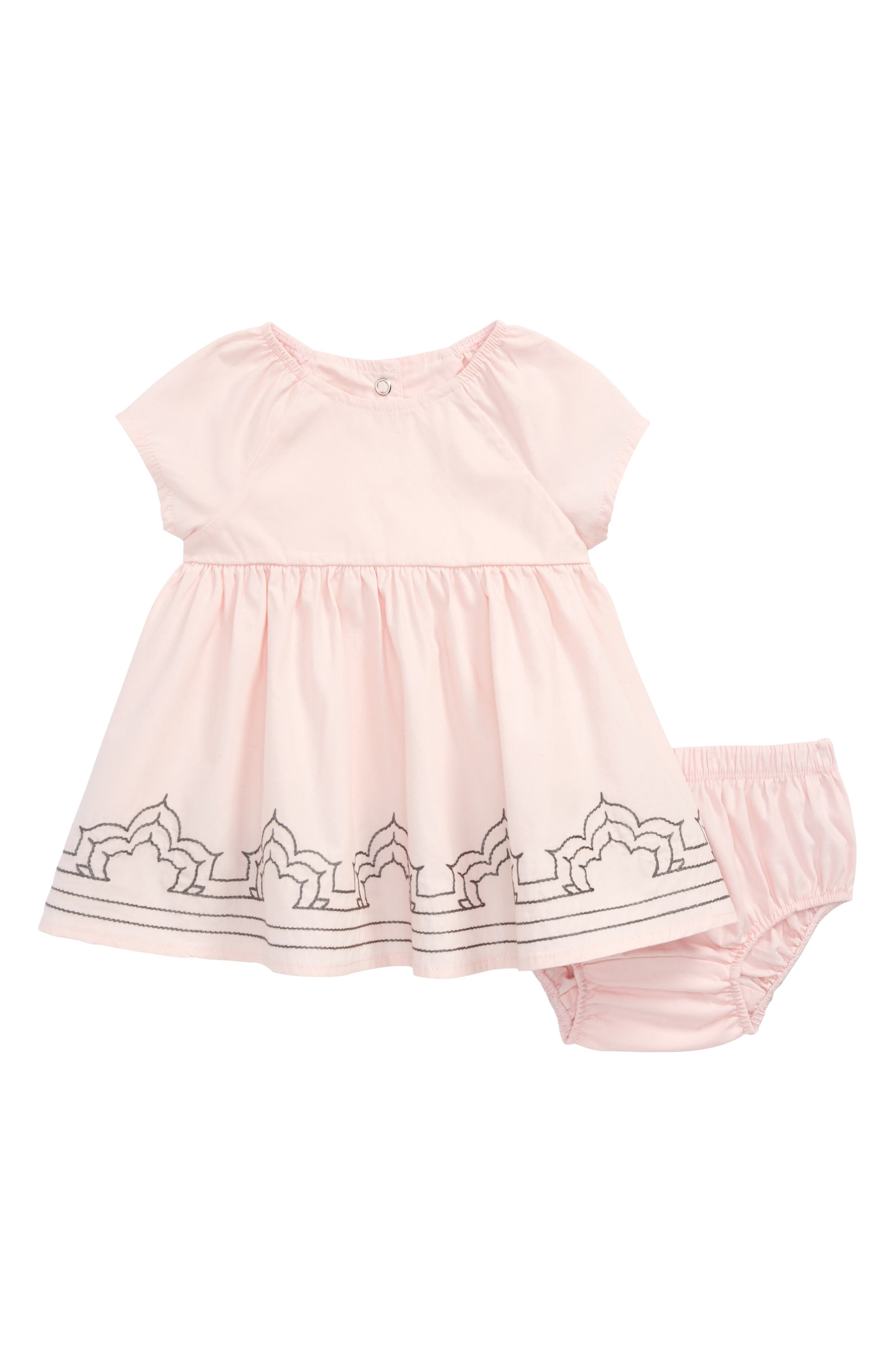 Embroidered Dress,                             Main thumbnail 1, color,                             Pink