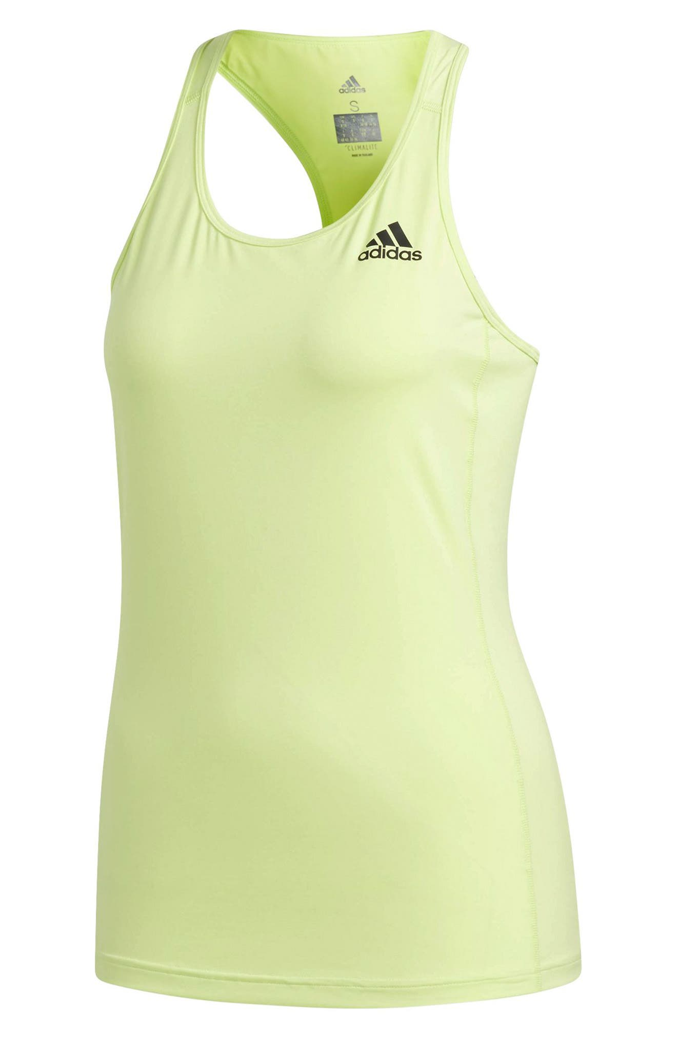 Performer Baseline Tank Top,                             Alternate thumbnail 7, color,                             Semi Frozen Yellow/ Black