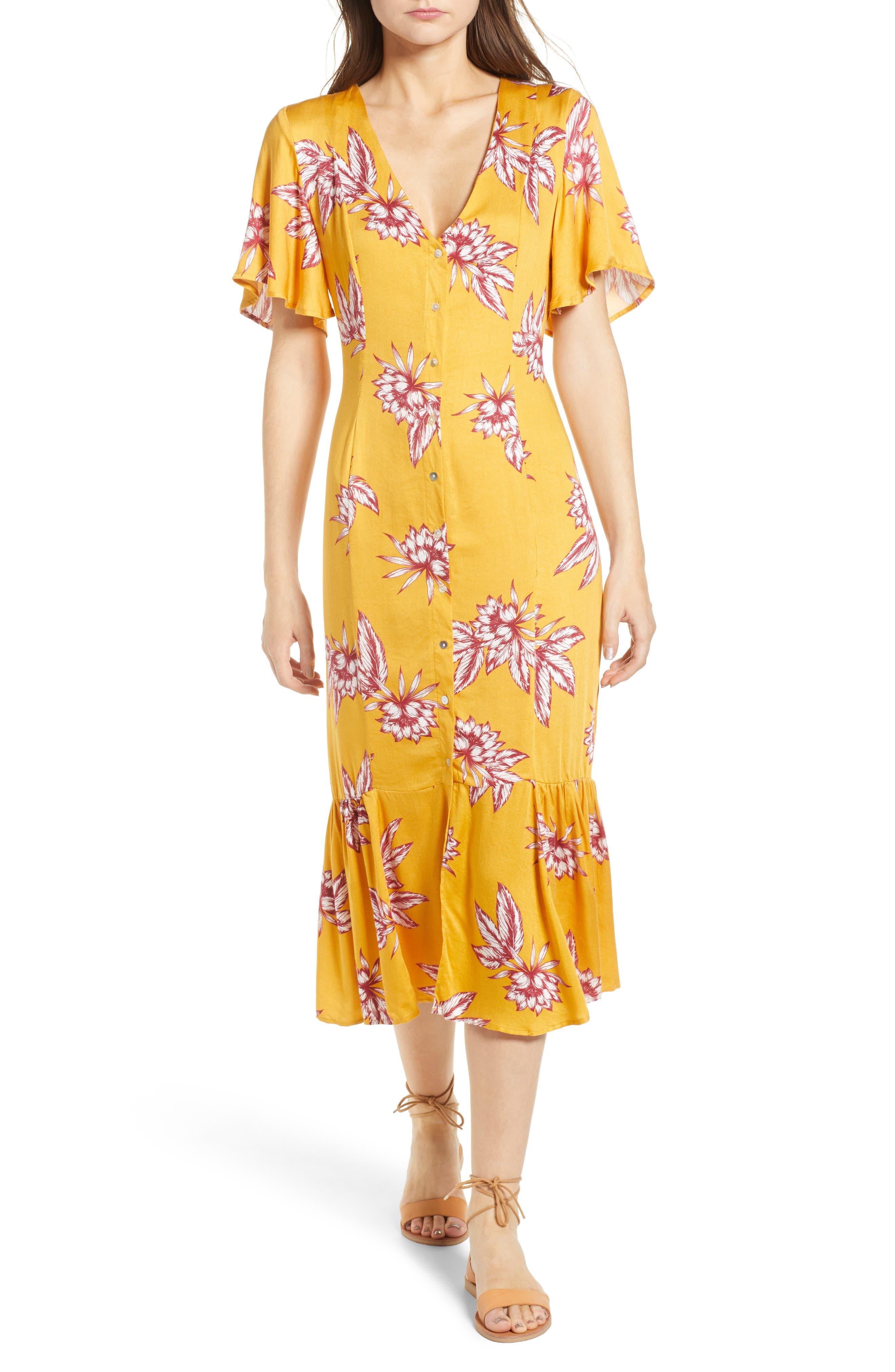 Searing Soul Midi Dress,                             Main thumbnail 1, color,                             Multi