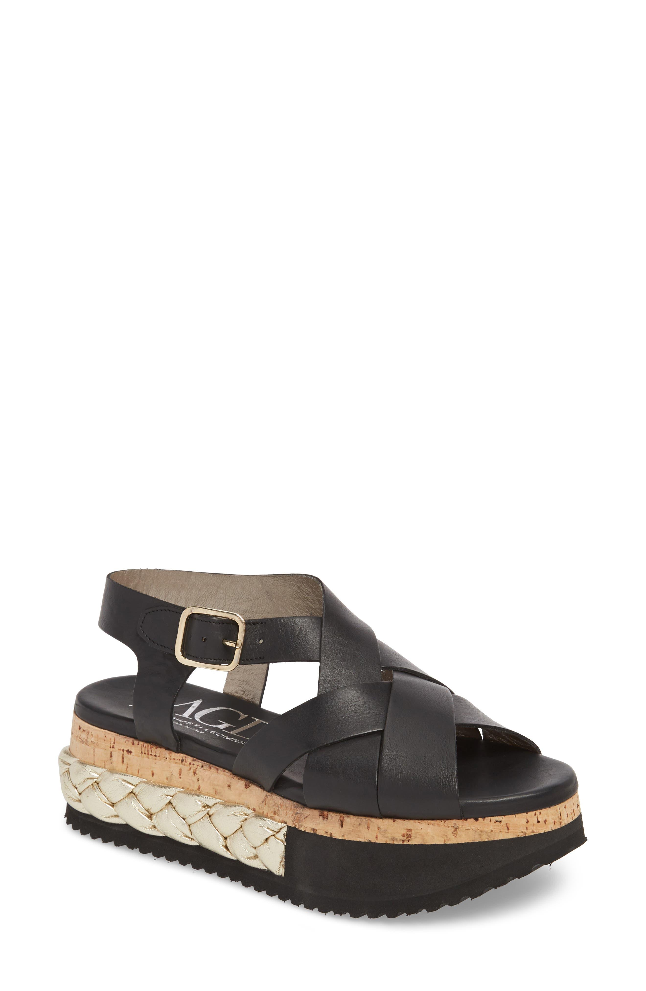AGL Braided Platform Sandal (Women)