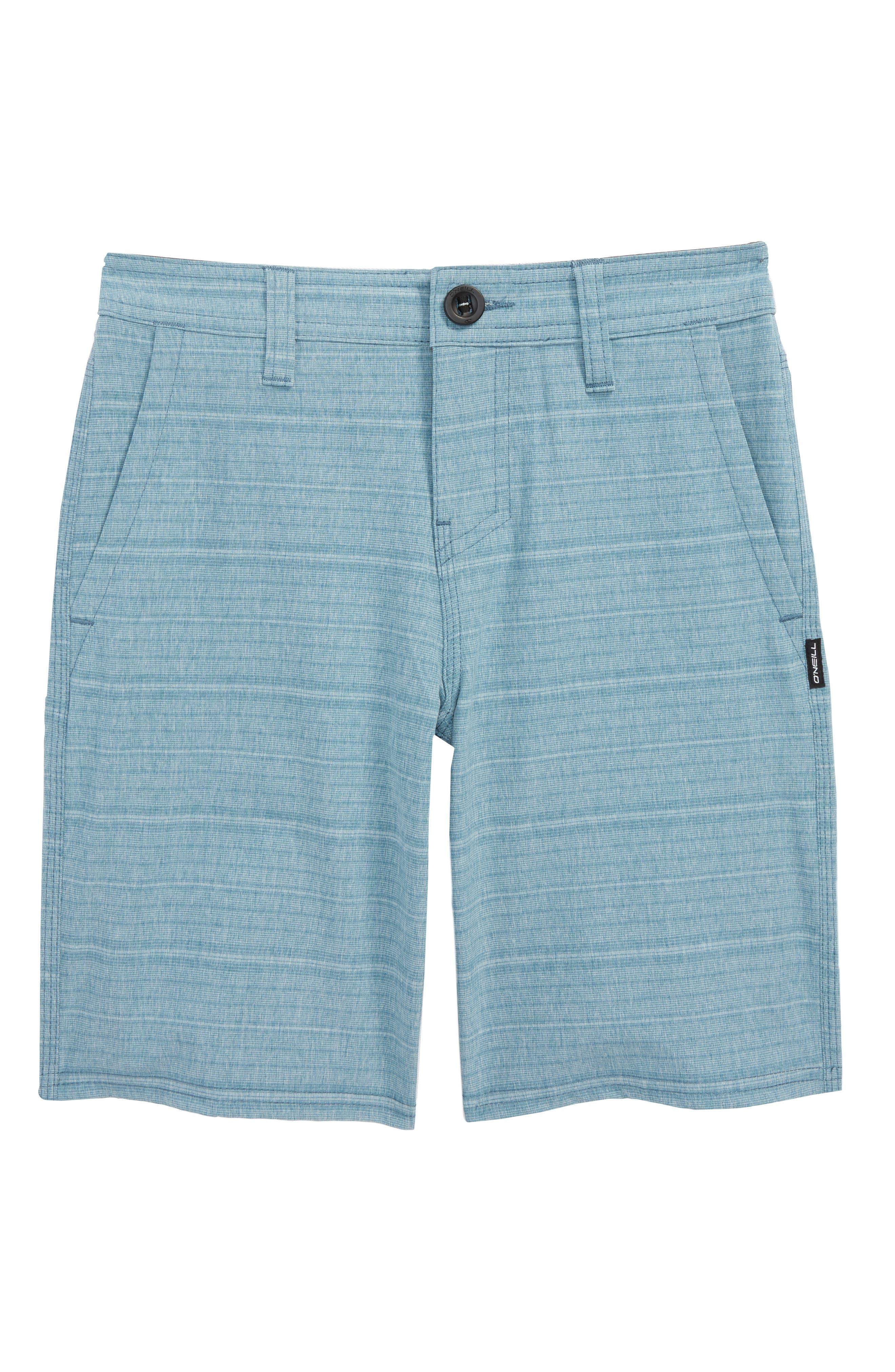 Locked Stripe Hybrid Shorts,                         Main,                         color, Deep Teal