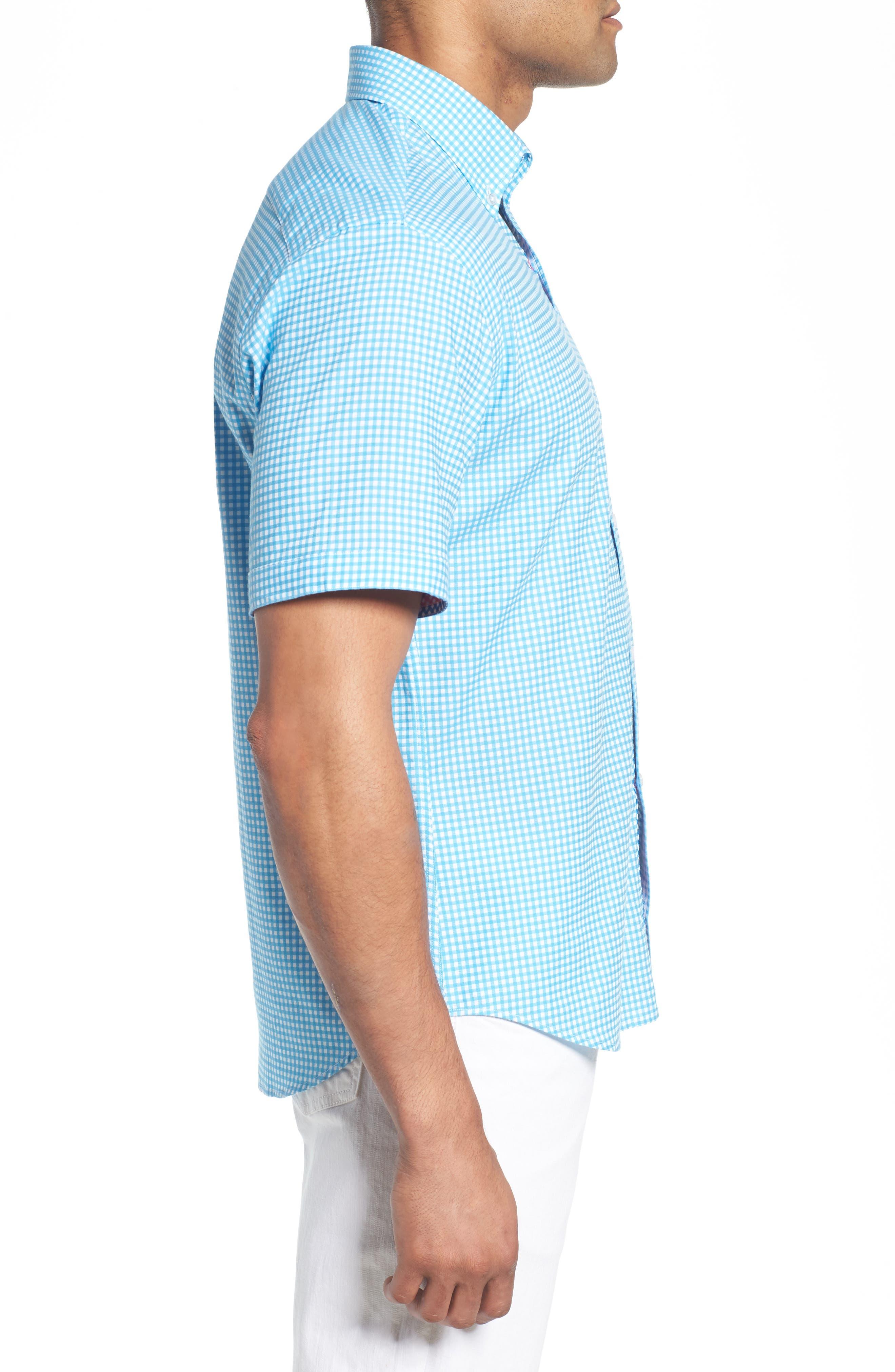Aden Regular Fit Sport Shirt,                             Alternate thumbnail 4, color,                             Aqua