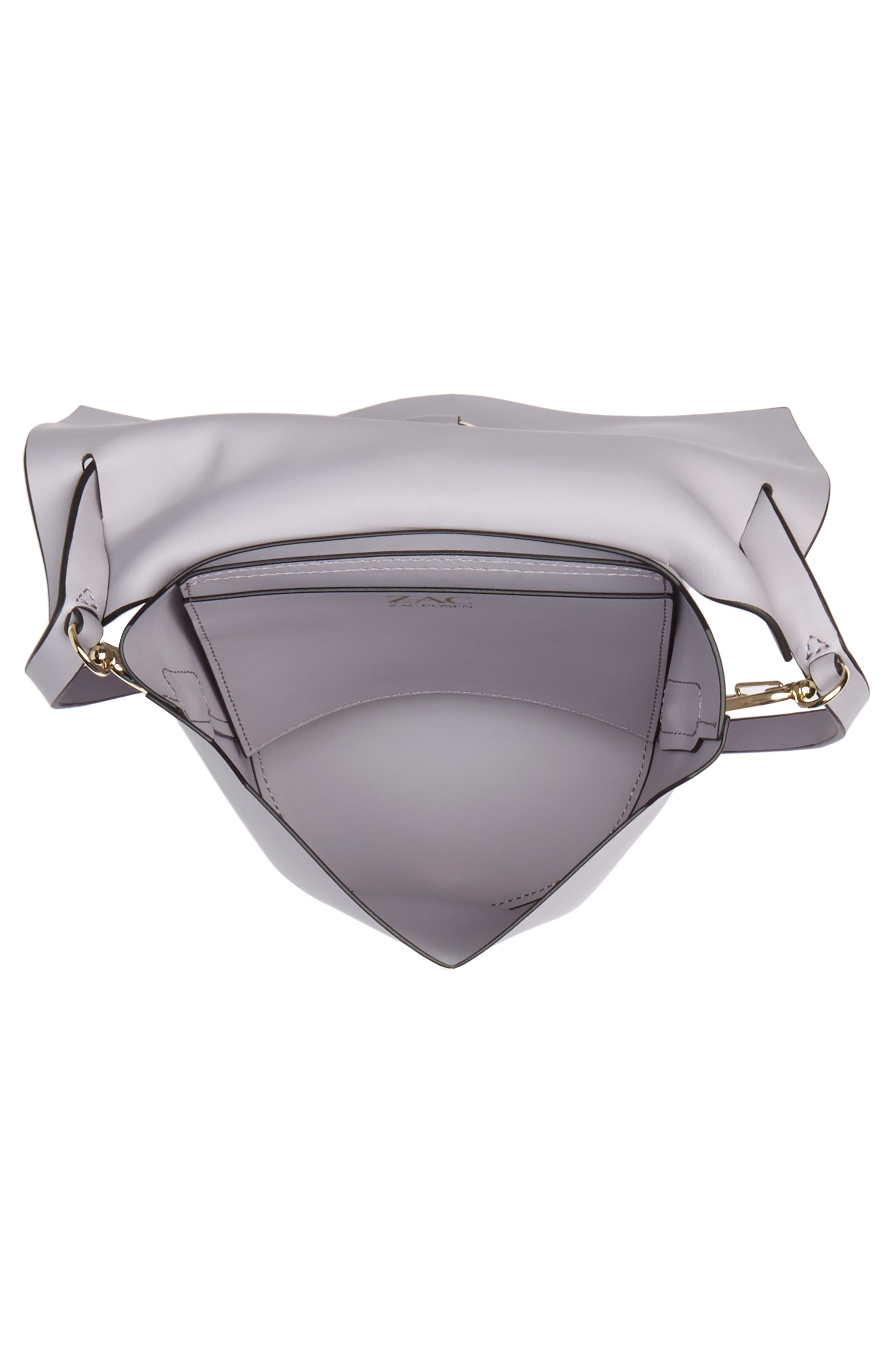 Belay Leather Crossbody Bag,                             Alternate thumbnail 4, color,                             Violet