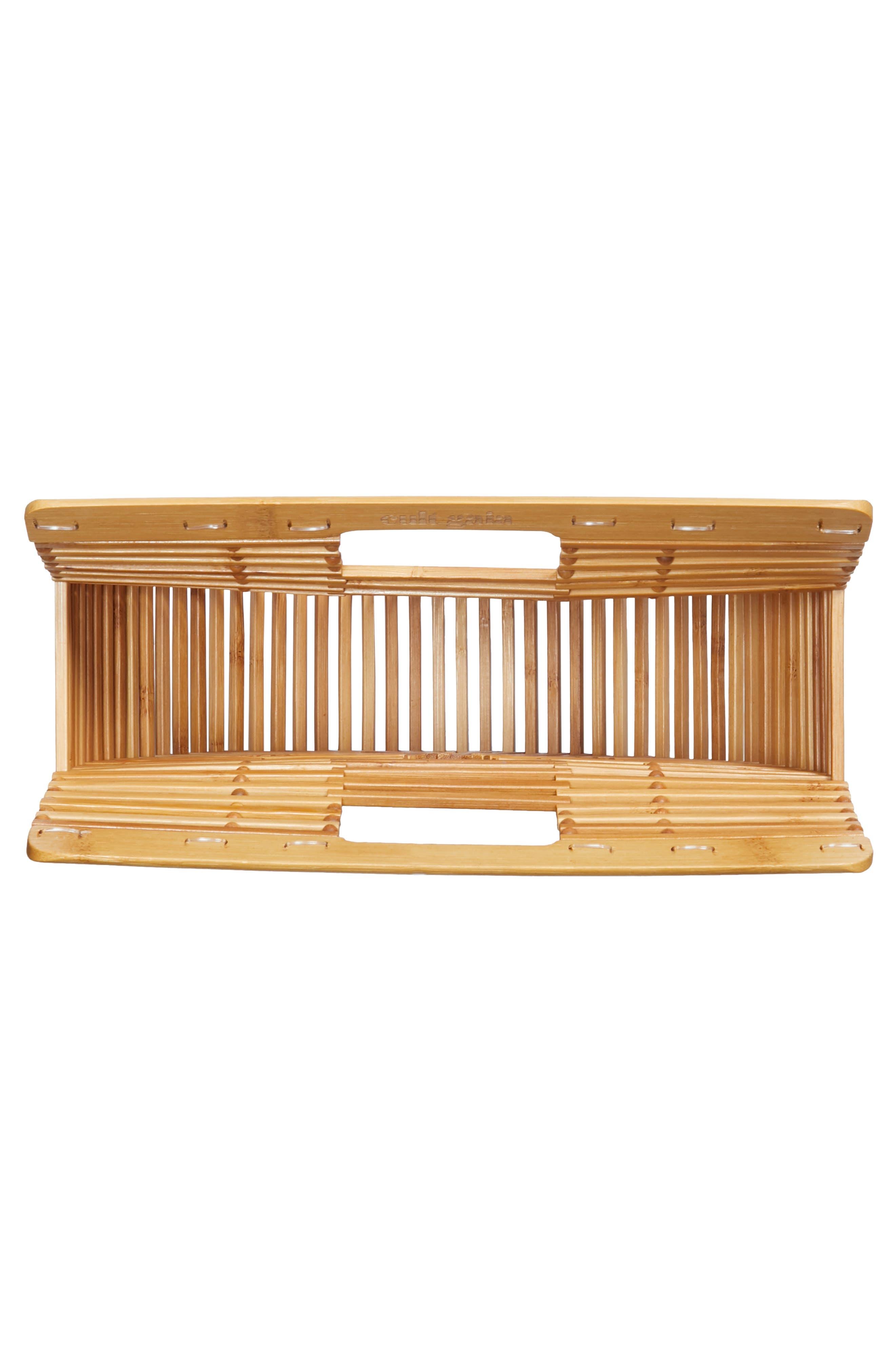Small Ark Bamboo Handbag,                             Alternate thumbnail 4, color,                             Bamboo