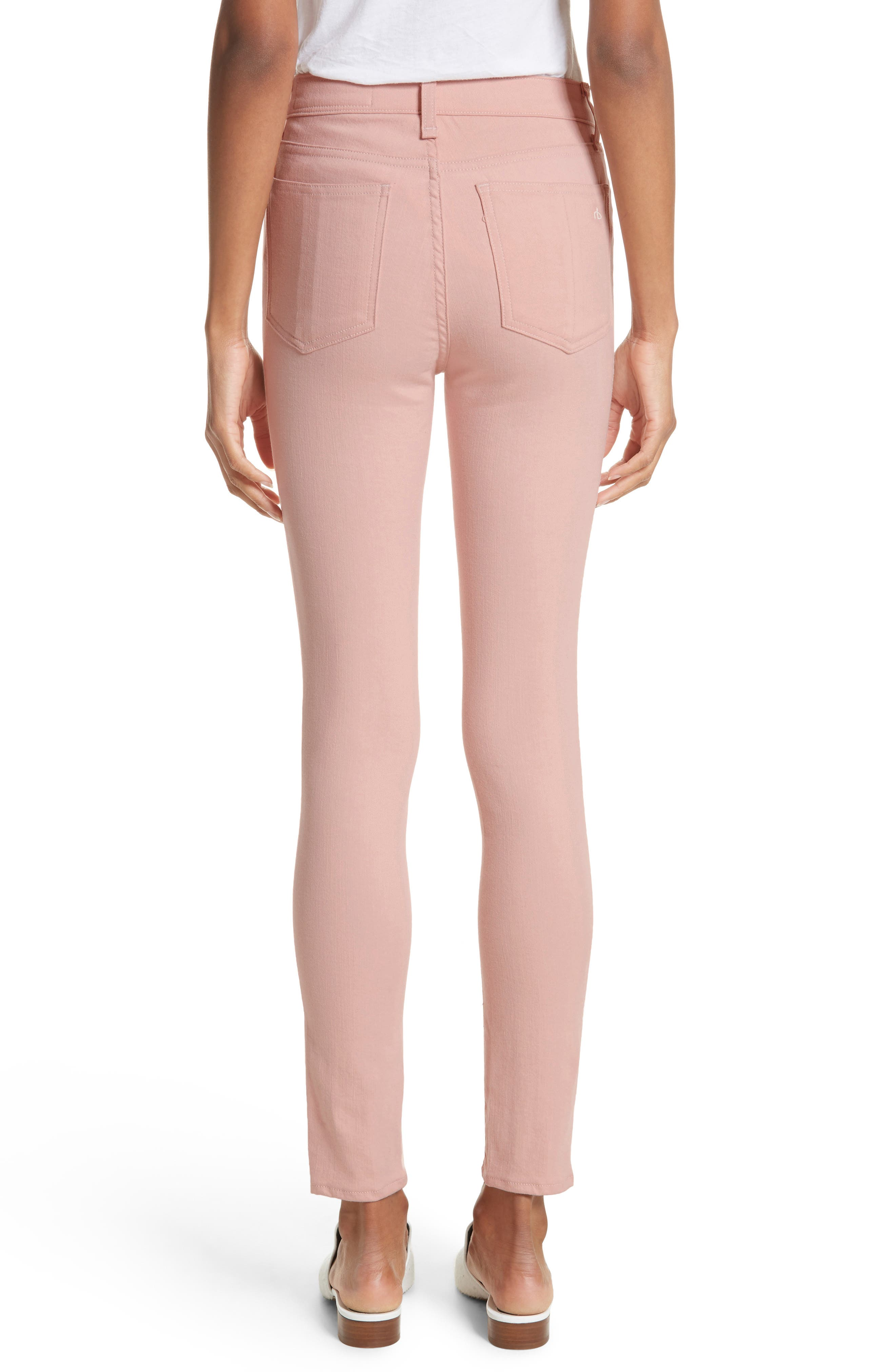 High Waist Skinny Jeans,                             Alternate thumbnail 2, color,                             Blush Twill