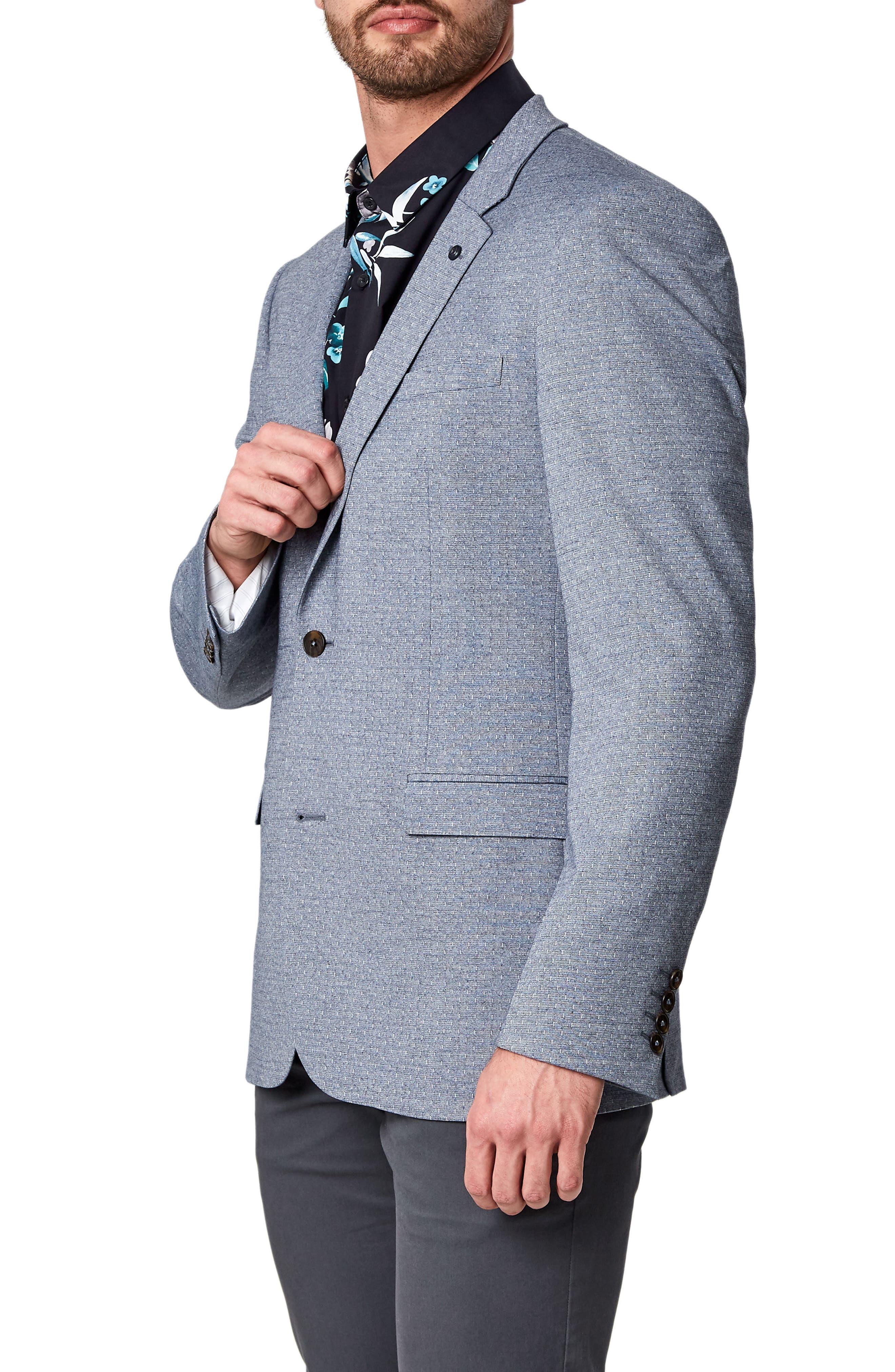Felico Trim Fit Sport Coat,                             Alternate thumbnail 3, color,                             Navy