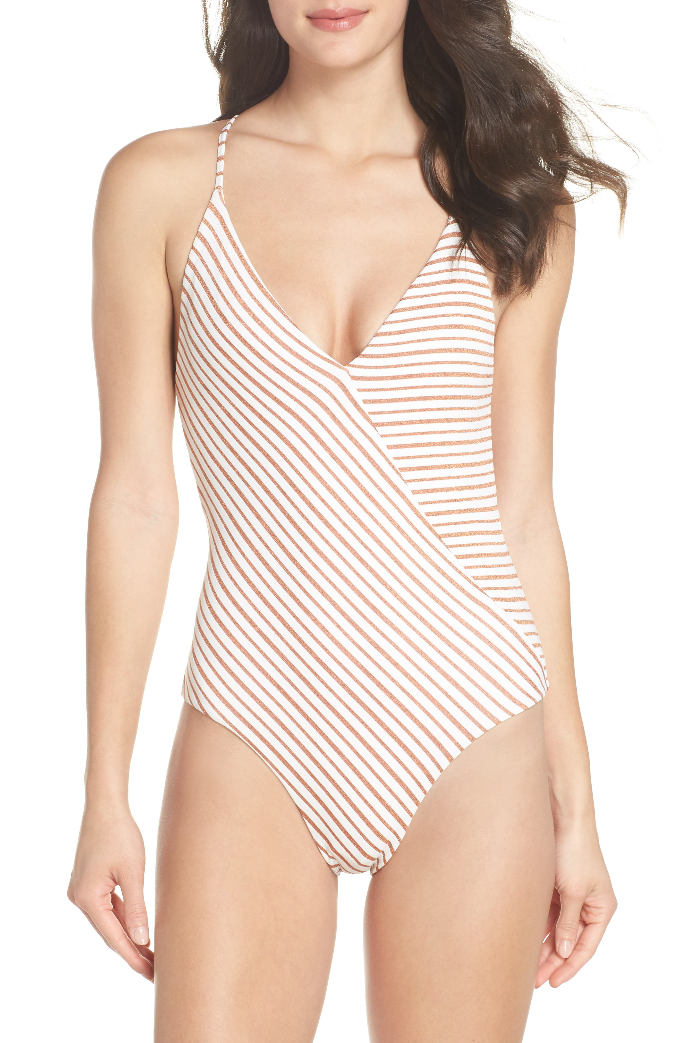 Blair One-Piece Swimsuit,                         Main,                         color, White