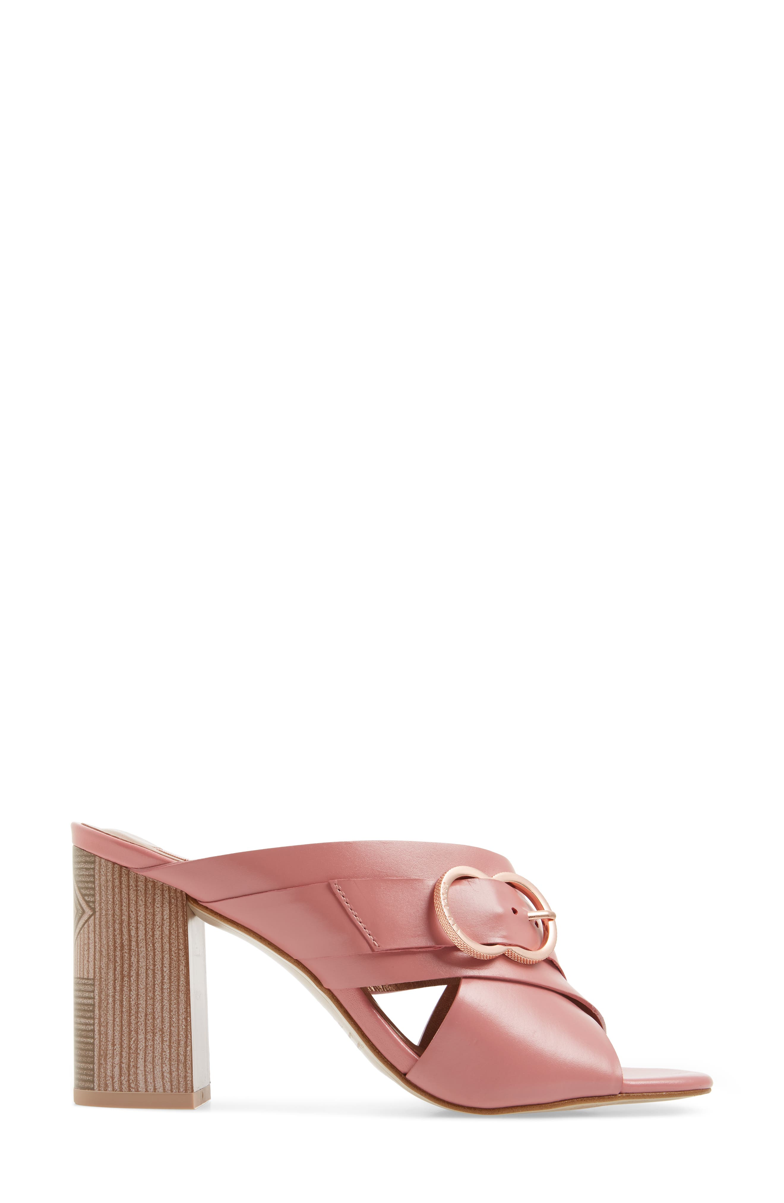 Malada Slide Sandal,                             Alternate thumbnail 3, color,                             Pink Leather