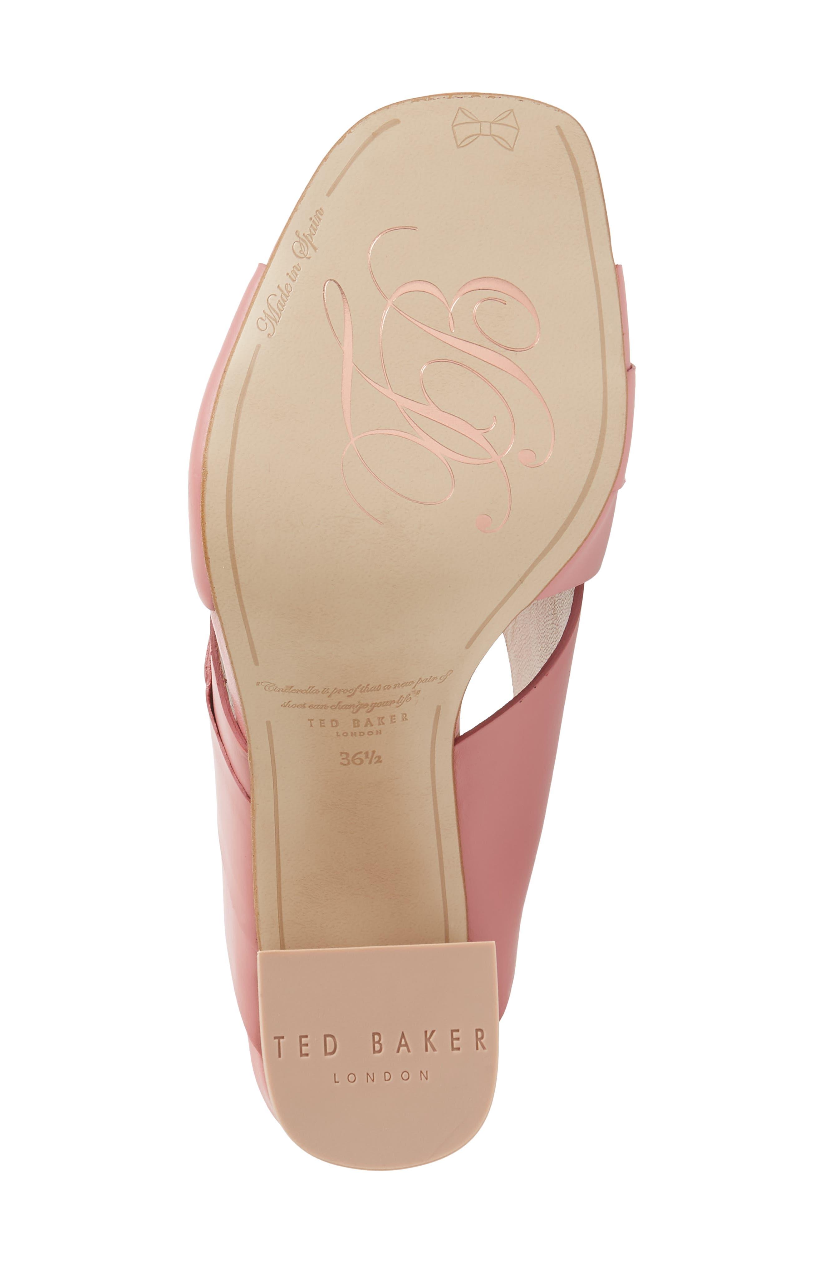 Malada Slide Sandal,                             Alternate thumbnail 6, color,                             Pink Leather