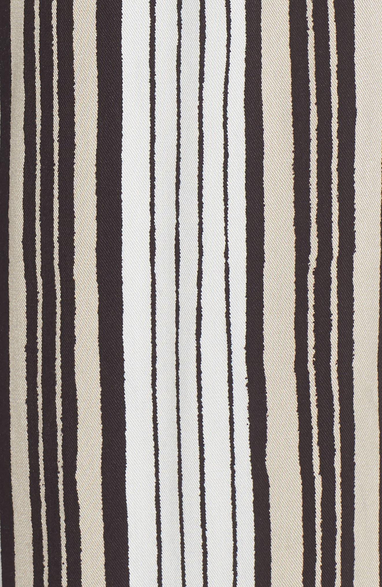 Avah Stripe Pants,                             Alternate thumbnail 4, color,                             Ivory