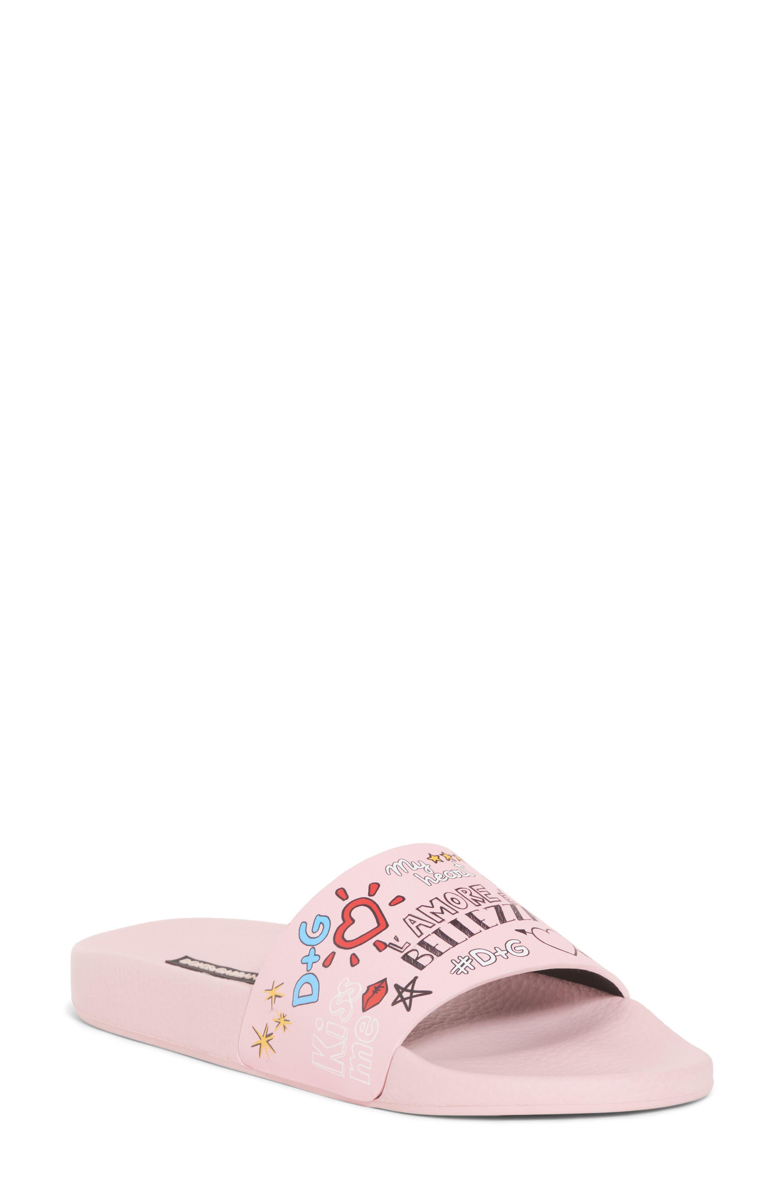 Dolce&Gabbana Mural Graffiti Slide Sandal (Women)