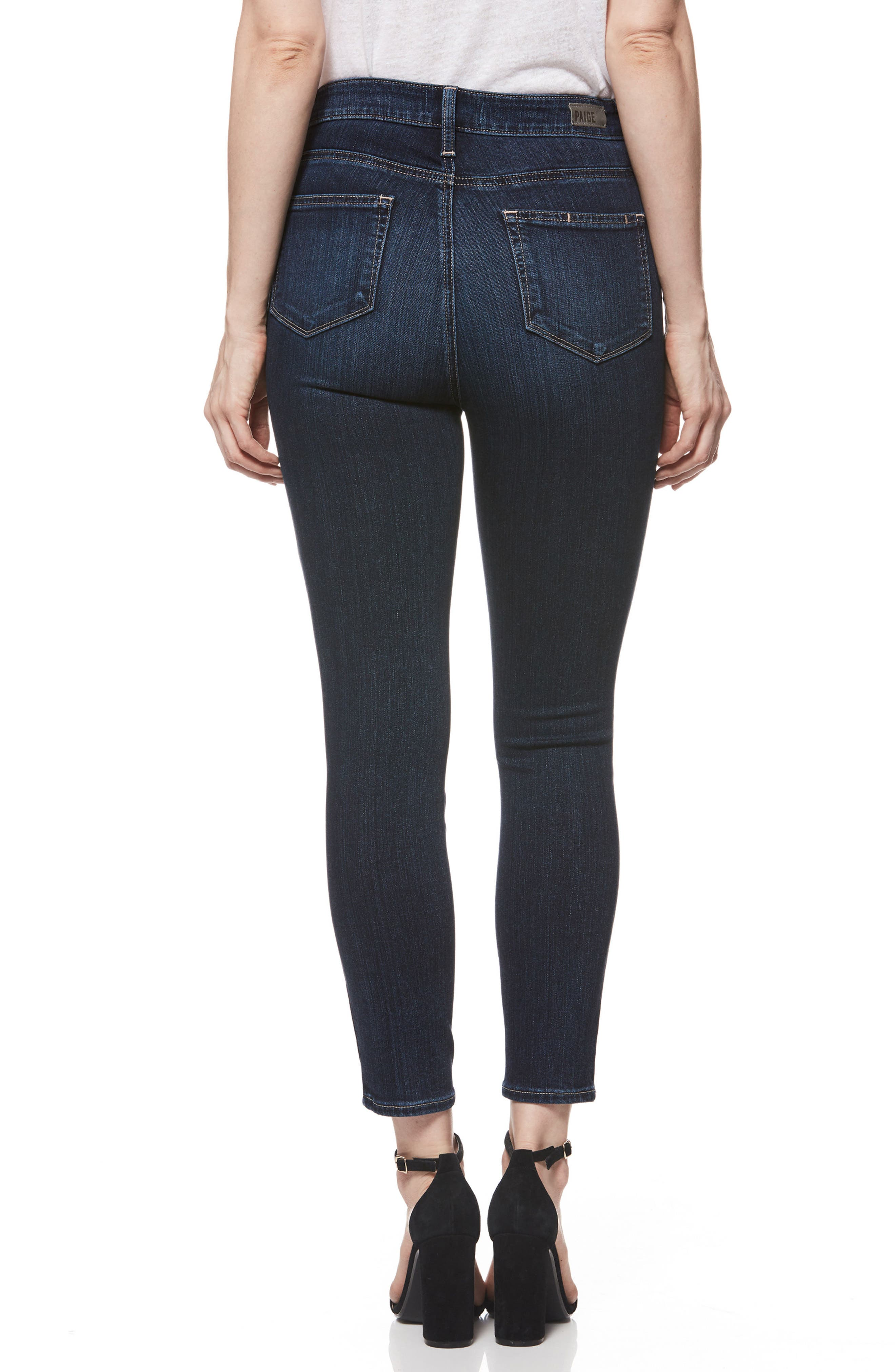 Transcend - Margot High Waist Crop Skinny Jeans,                             Alternate thumbnail 2, color,                             Sawtelle