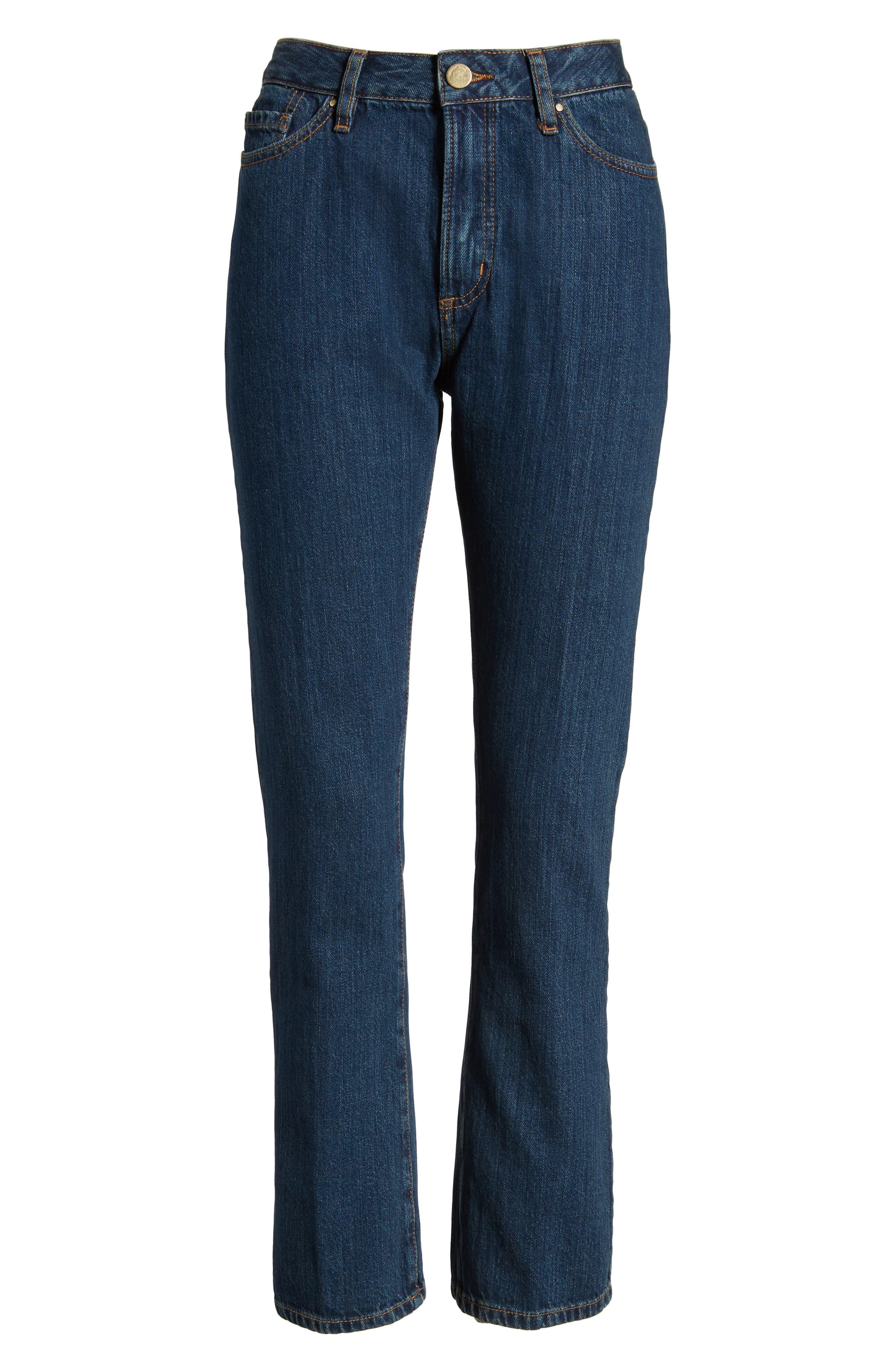 1970 The Flared Crop Jeans,                             Alternate thumbnail 7, color,                             Blue Denim