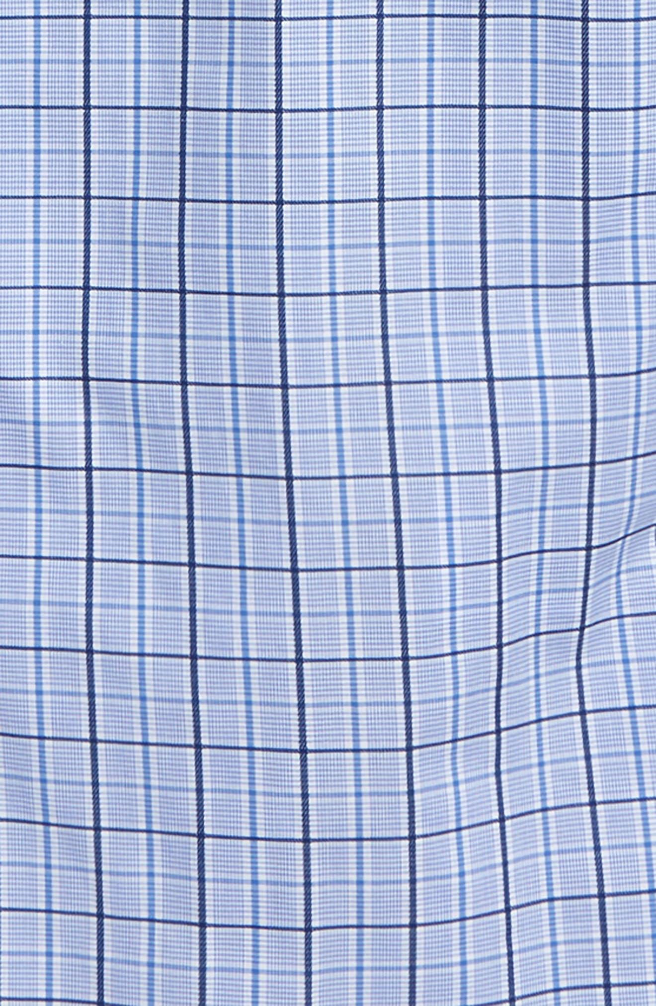 Plaid Dress Shirt,                             Alternate thumbnail 2, color,                             Blue/ White