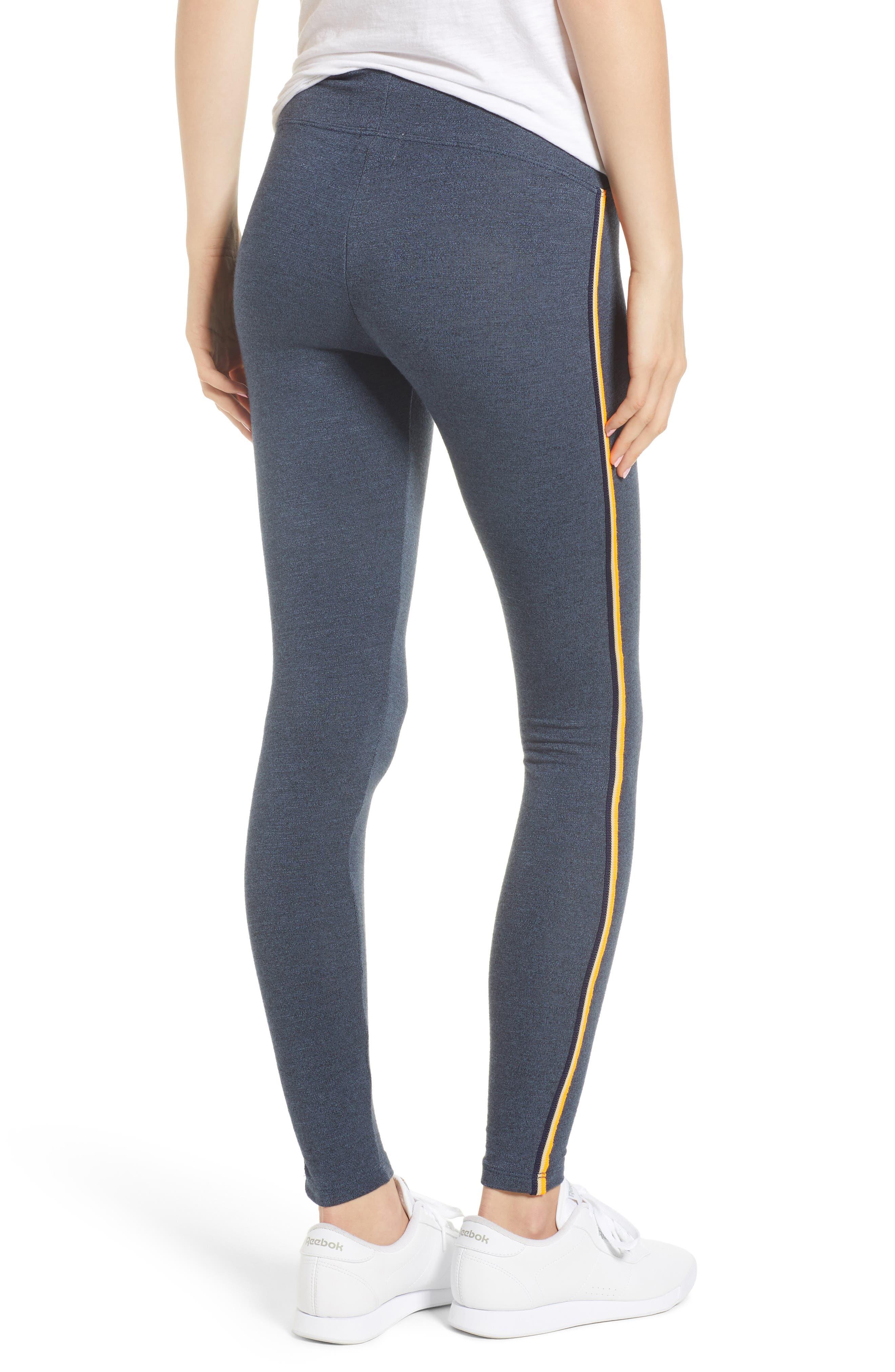 Side Stripe Yoga Pants,                             Alternate thumbnail 2, color,                             Navy