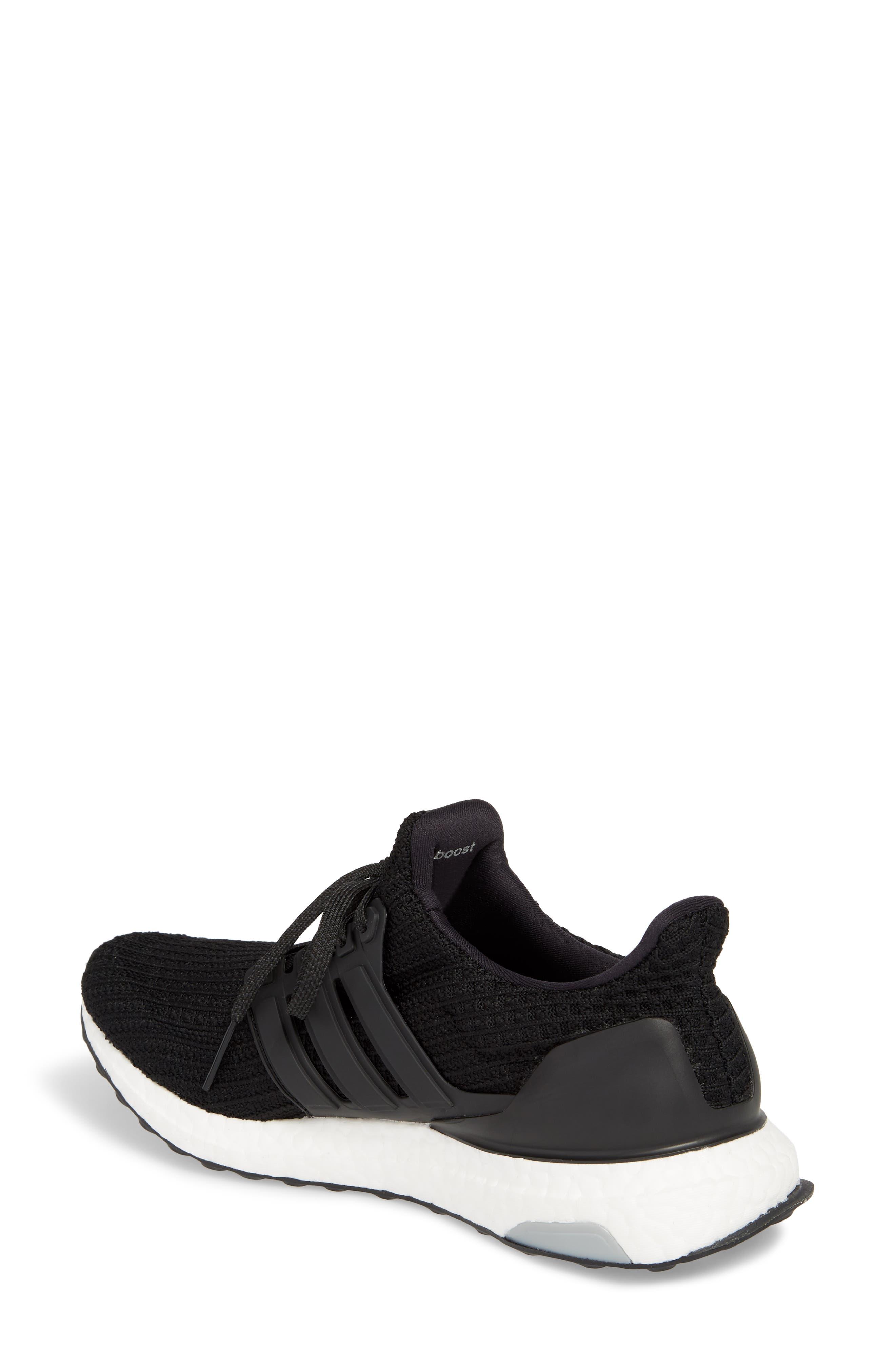 'UltraBoost' Running Shoe,                             Alternate thumbnail 2, color,                             Core Black/ Core Black