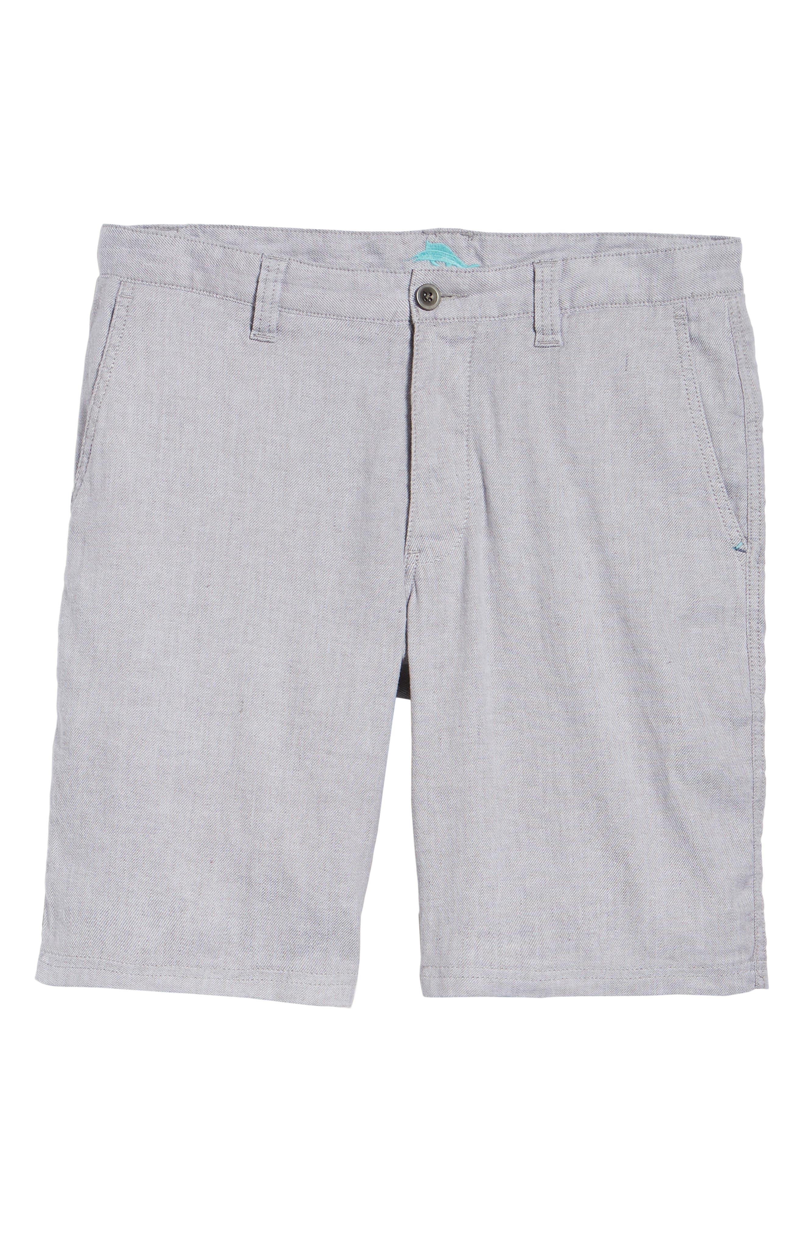 Beach Linen Blend Shorts,                             Alternate thumbnail 6, color,                             Storm Gray