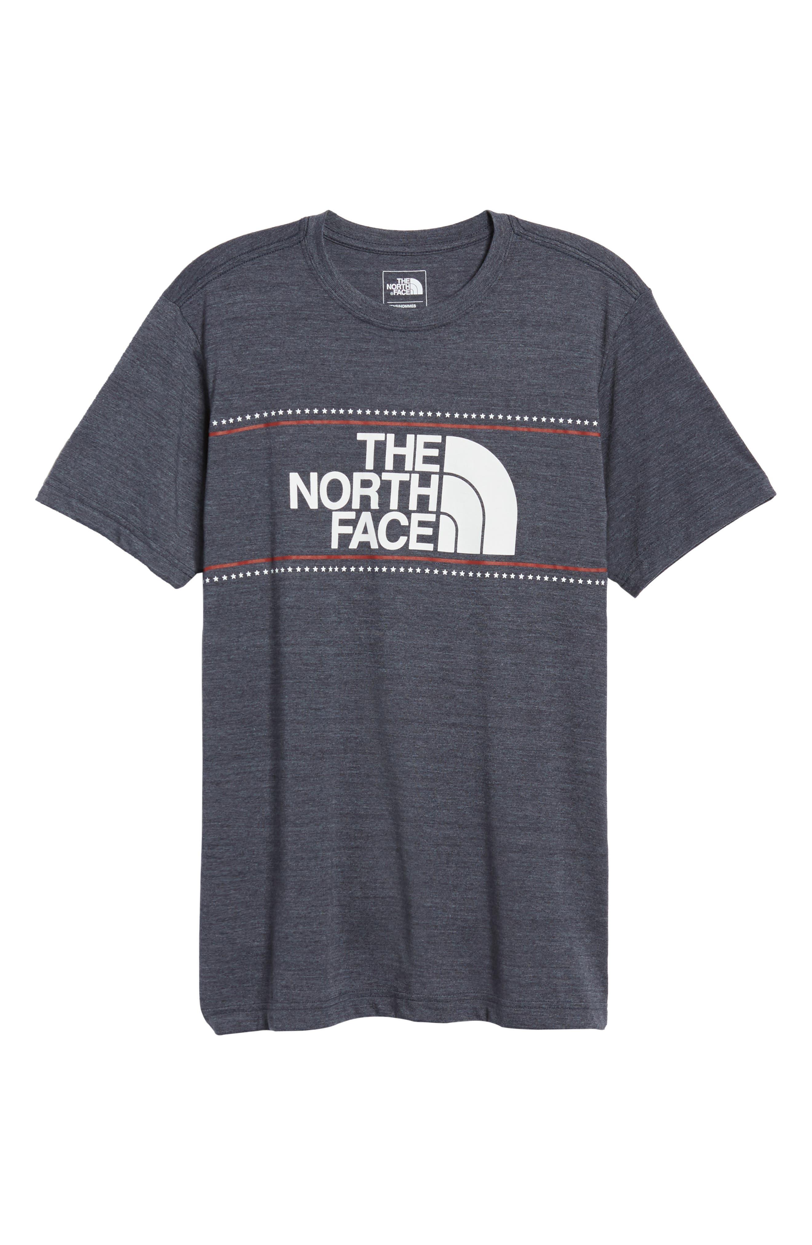Americana Crewneck T-Shirt,                             Alternate thumbnail 6, color,                             Tnf Medium Grey Heather