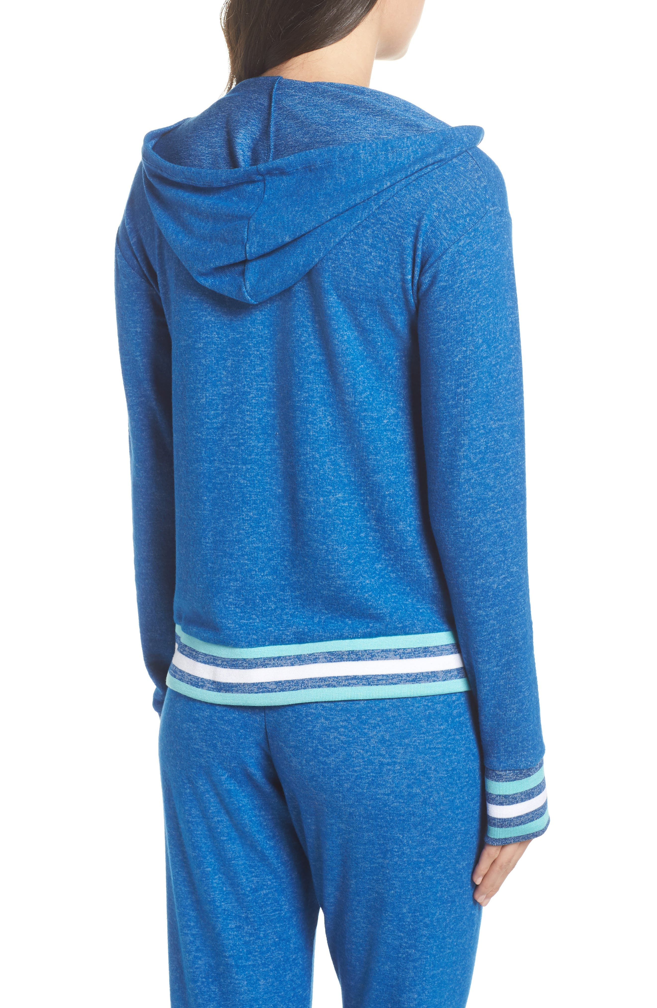 Brushed Hacci Hoodie,                             Alternate thumbnail 2, color,                             Blue Classics