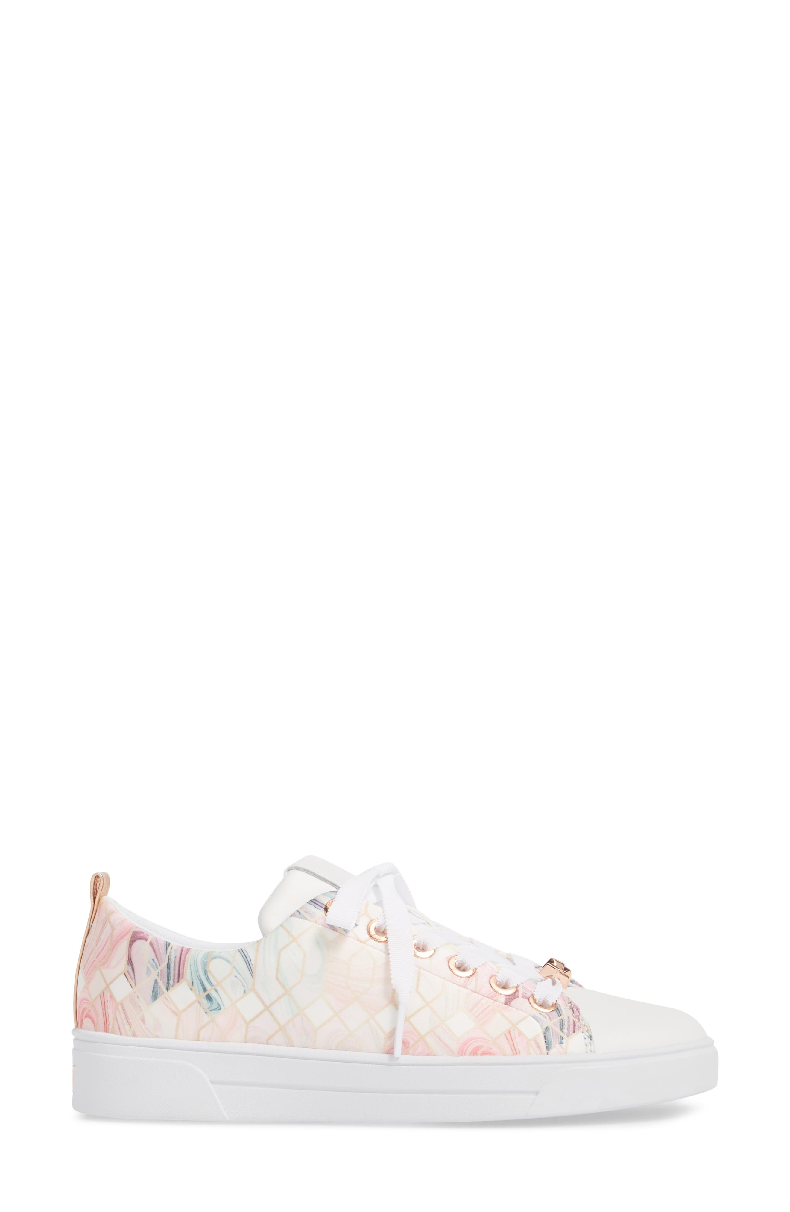 Ahfira Sneaker,                             Alternate thumbnail 3, color,                             Sea Of Clouds Print Fabric