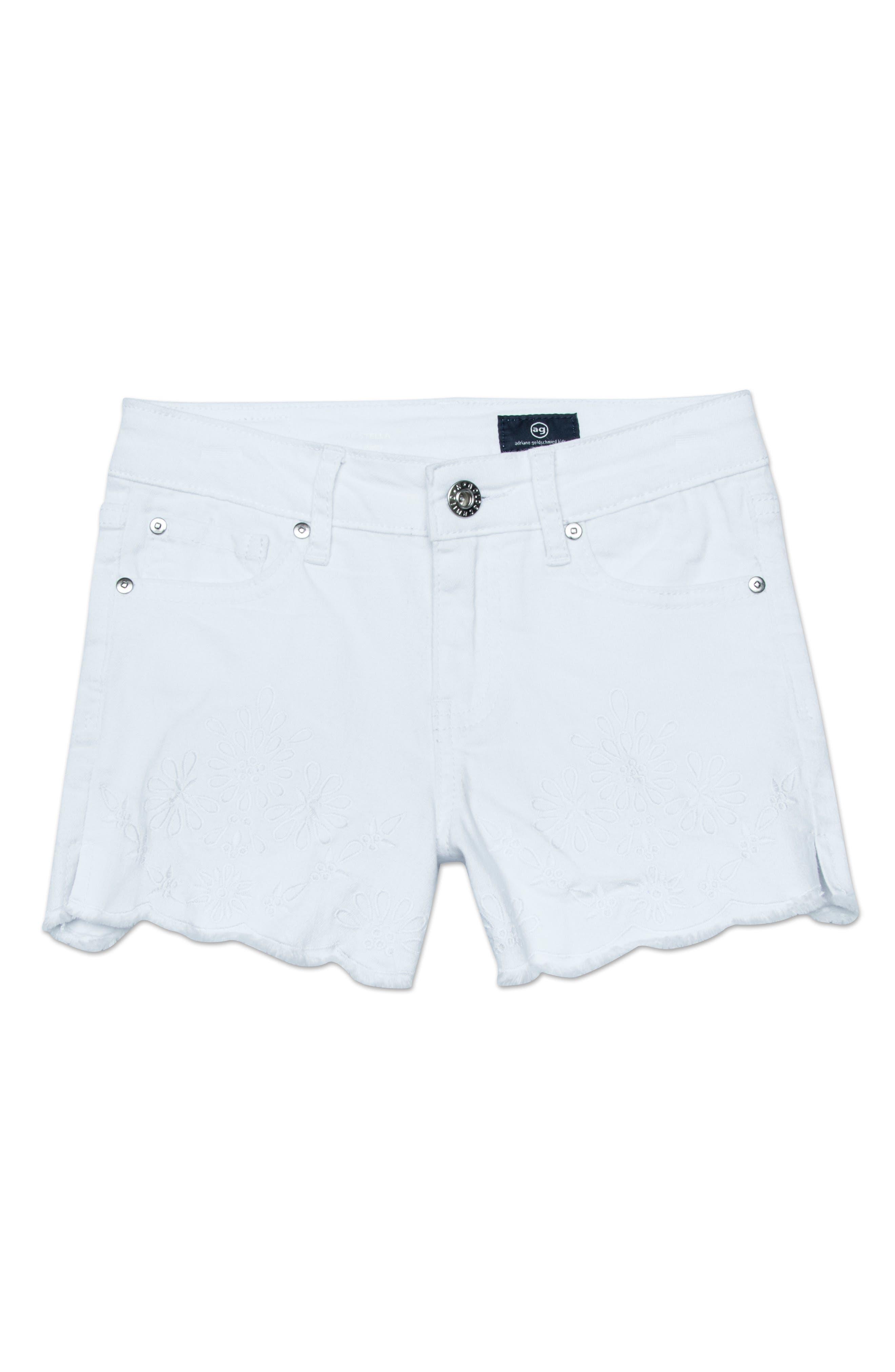 ag adriano goldschmeid kids The Brooklyn Scallop Denim Shorts (Big Girls)